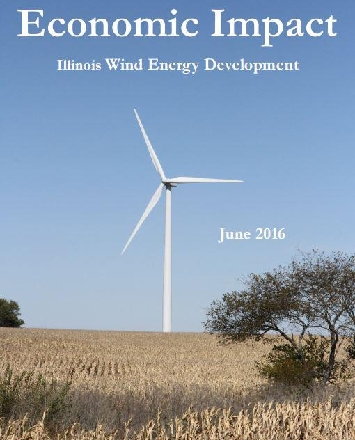 "A 2016 analysis of Illinois' wind energy industry said wind farms support about 870 permanent jobs. (""Economic Impact: Illinois Wind Energy Development"" / Illinois State University Center for Renewable Energy)"