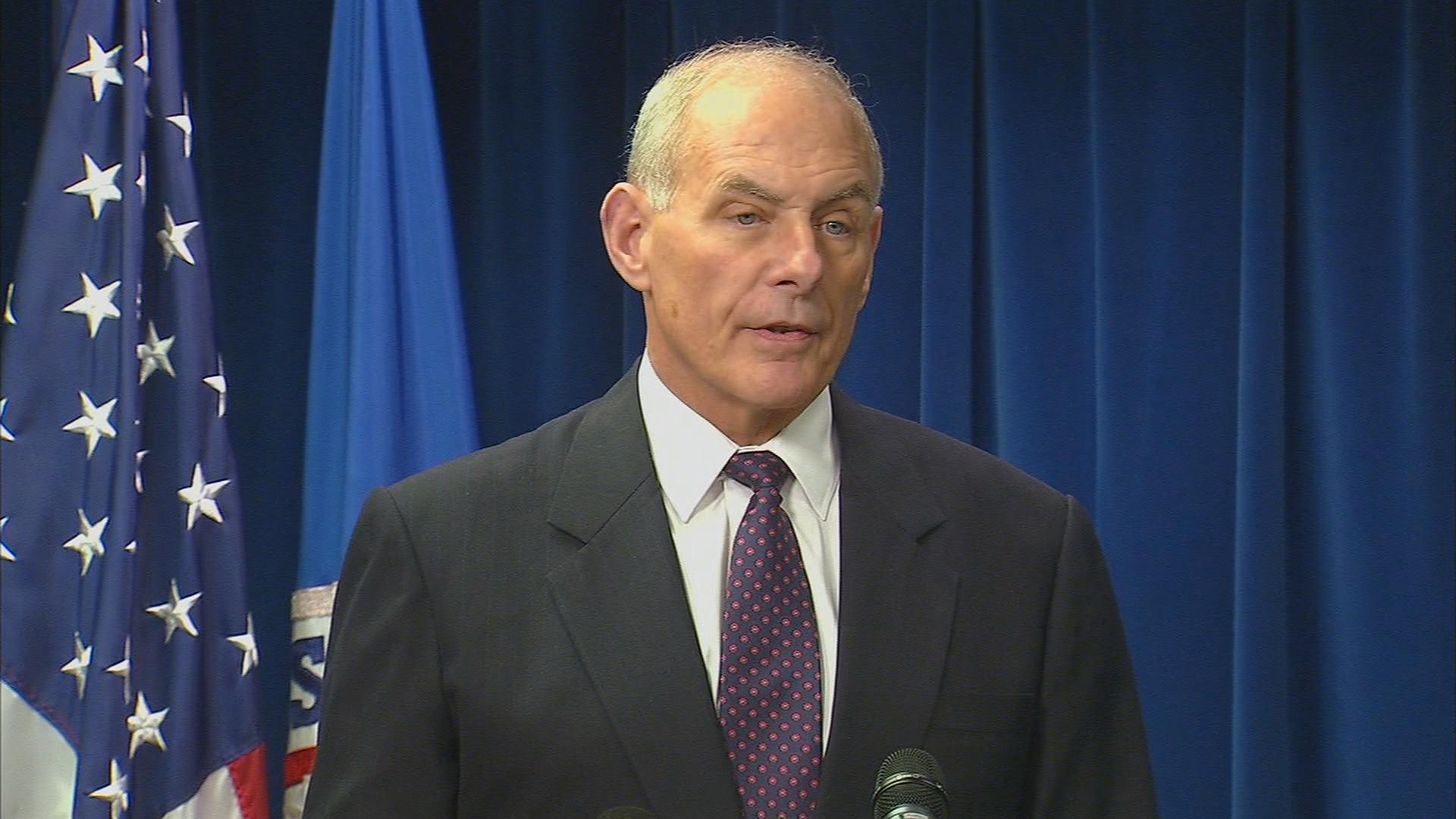 "Department of Homeland Security Secretary John Kelly: President Trump's order will ""make America more secure."""