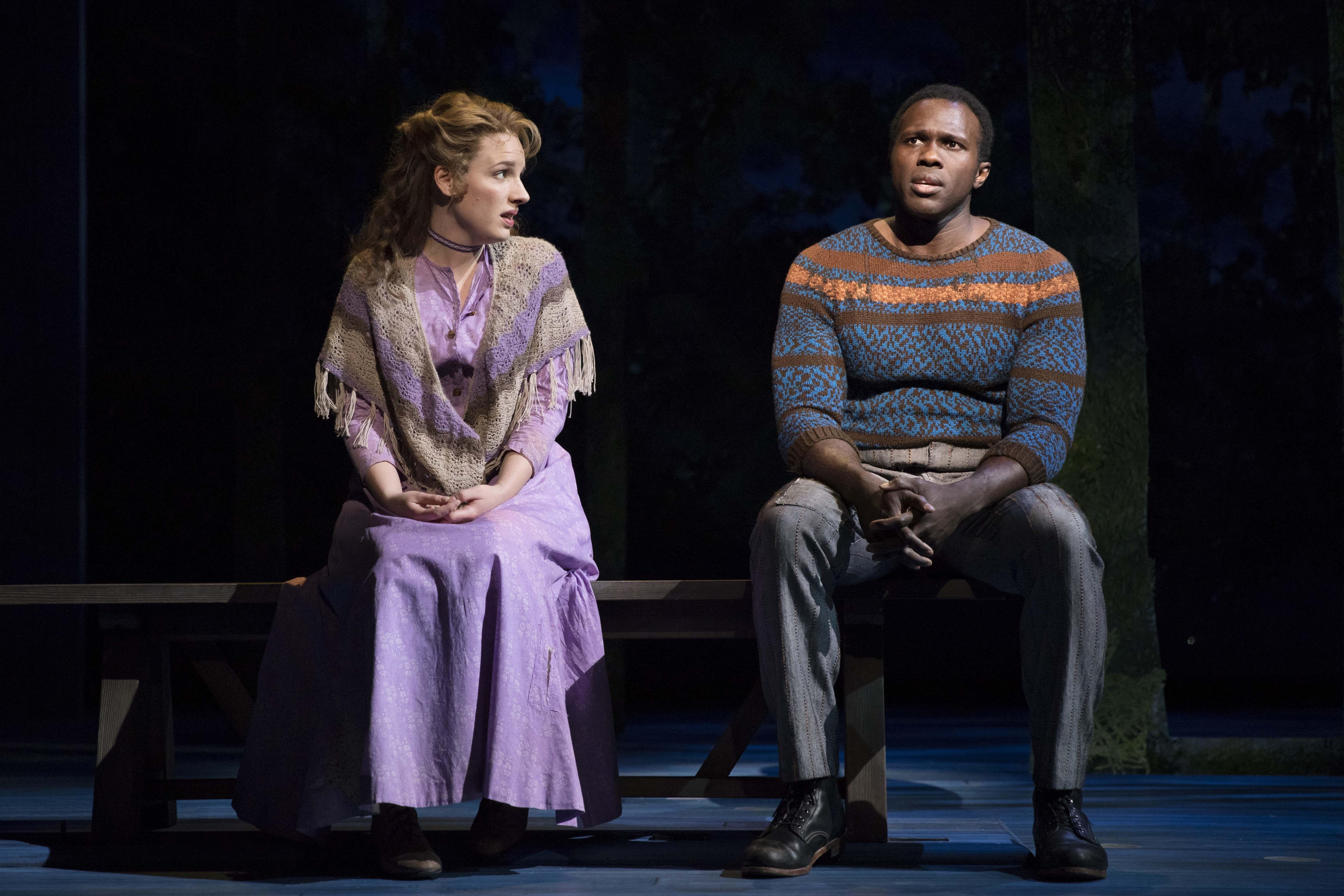 "Jessie Mueller and Joshua Henry in ""Carousel."" (Credit: Julieta Cervantes)"