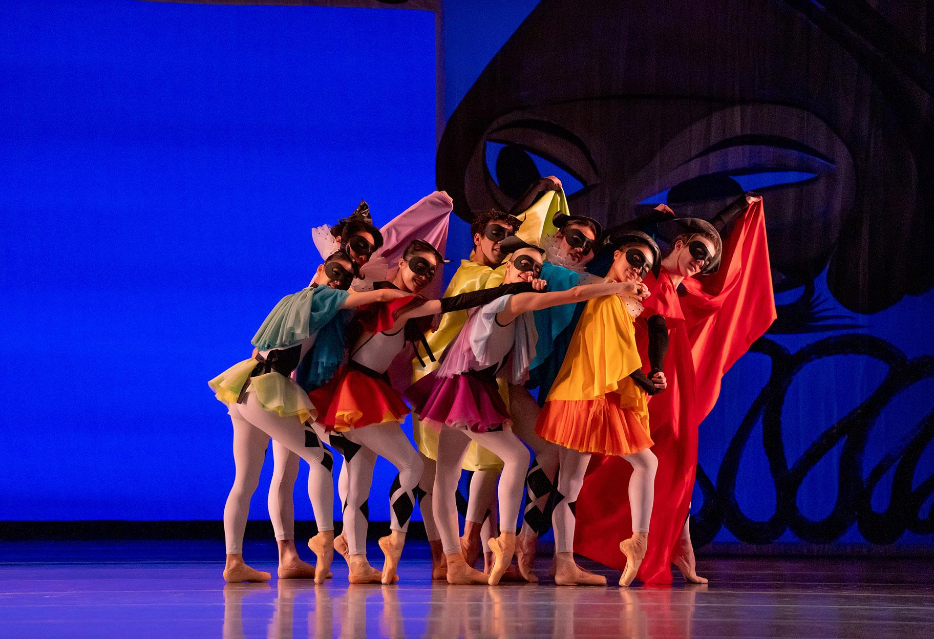 "Joffrey artists in ""Commedia."" (Photo by Cheryl Mann)"