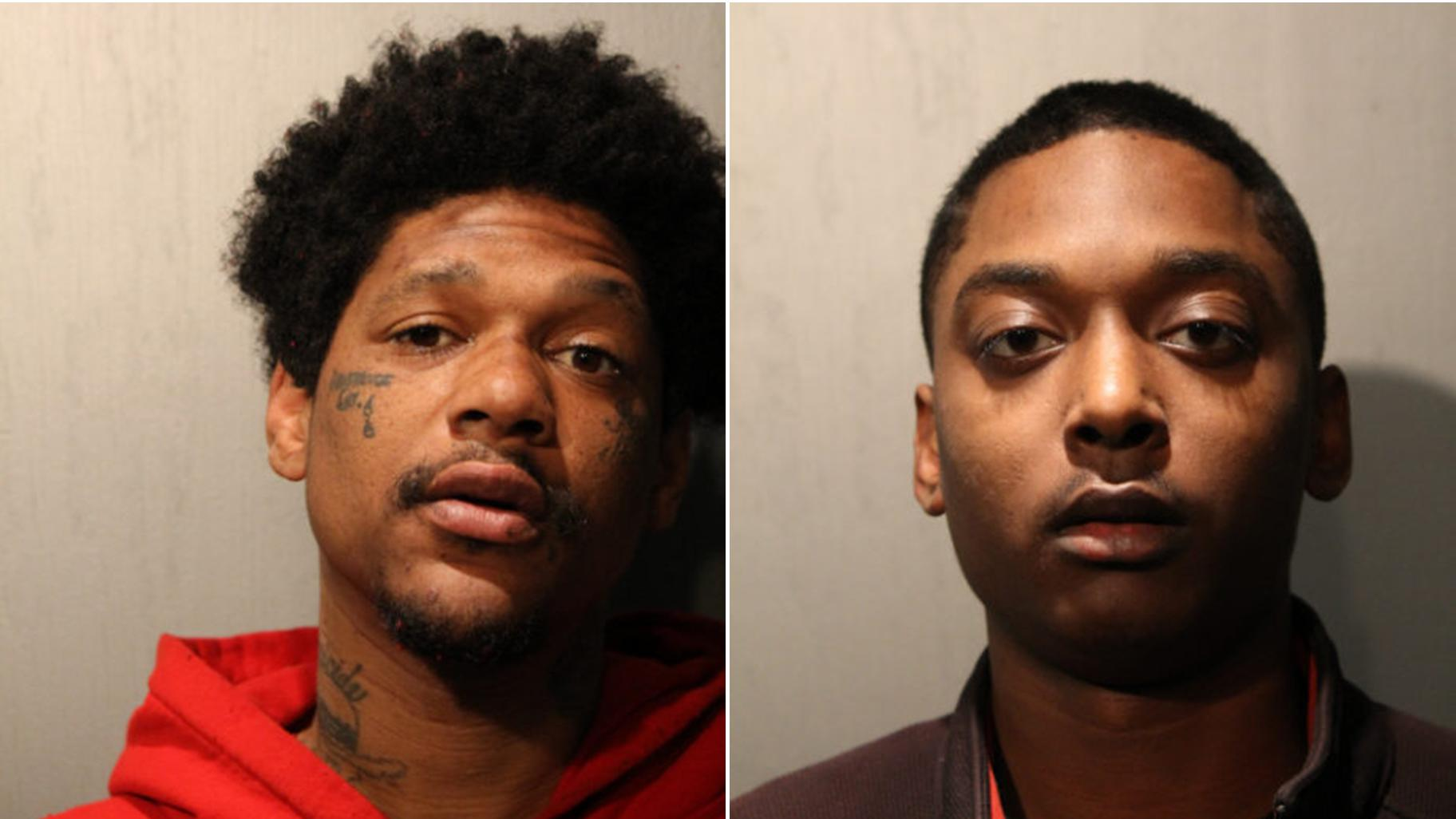 Jovan Battle, left, and Menelik Jackson (Chicago Police Department)