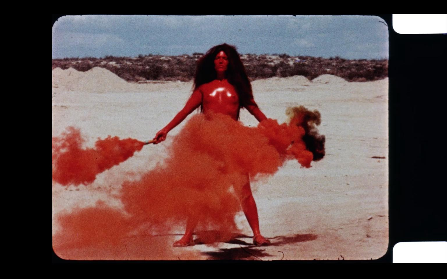 Judy Chicago, Women and Smoke, 1971. EXPO VIDEO, Curated by Anna Gritz (Curator, KW Institute for Contemporary Art, Berlin). Image courtesy of Jessica Silverman Gallery, San Francisco and Salon 94 (New York) and EXPO CHICAGO.