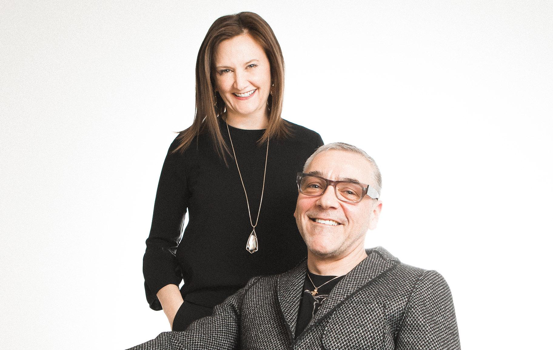Writers Theatre Artistic Director Michael Halberstam and Executive Director Kate Lipuma. (Photo by Joe Mazza)