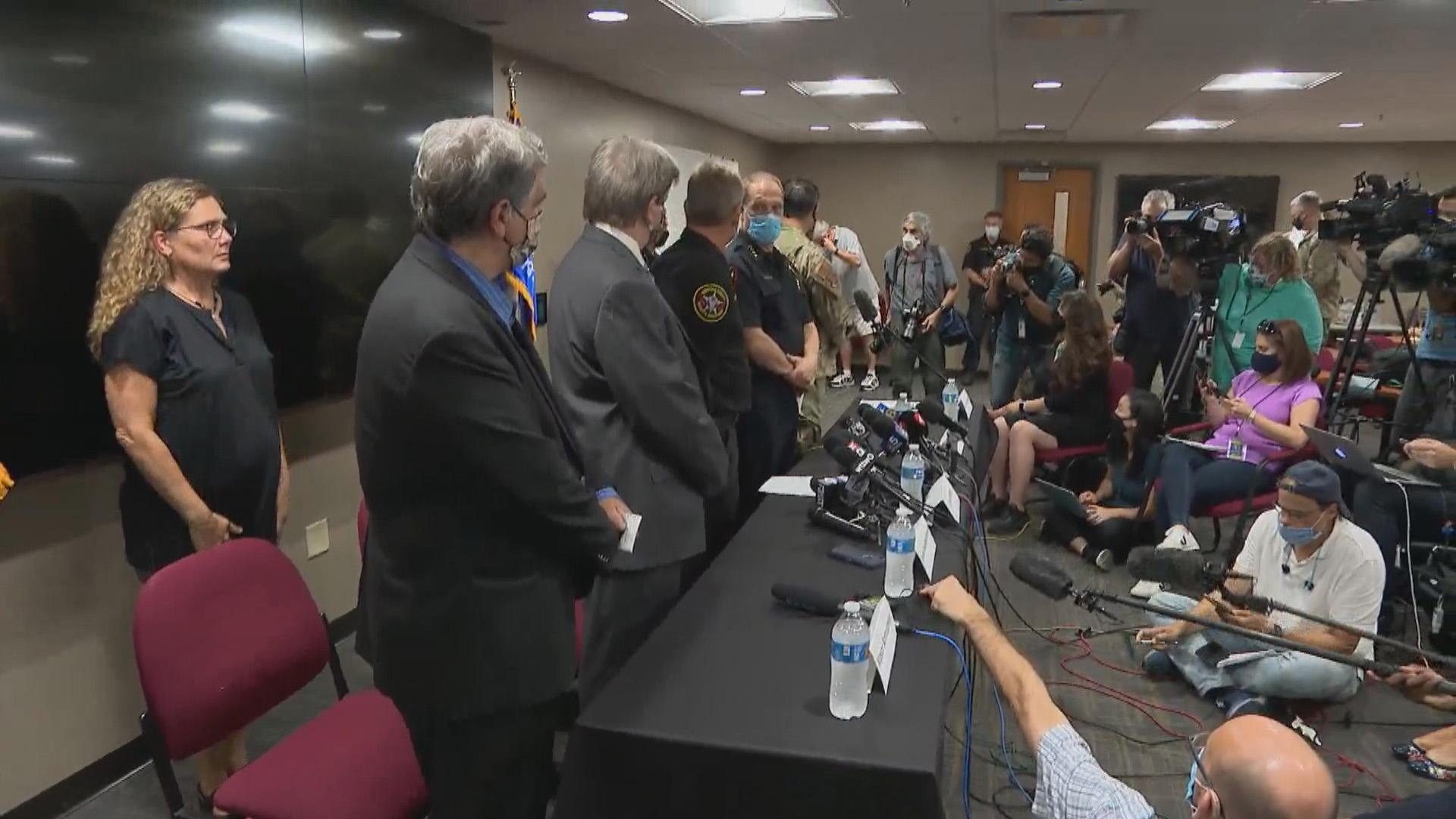 A press conference Thursday, Aug. 27, 2020 in Kenosha. (WTTW News)