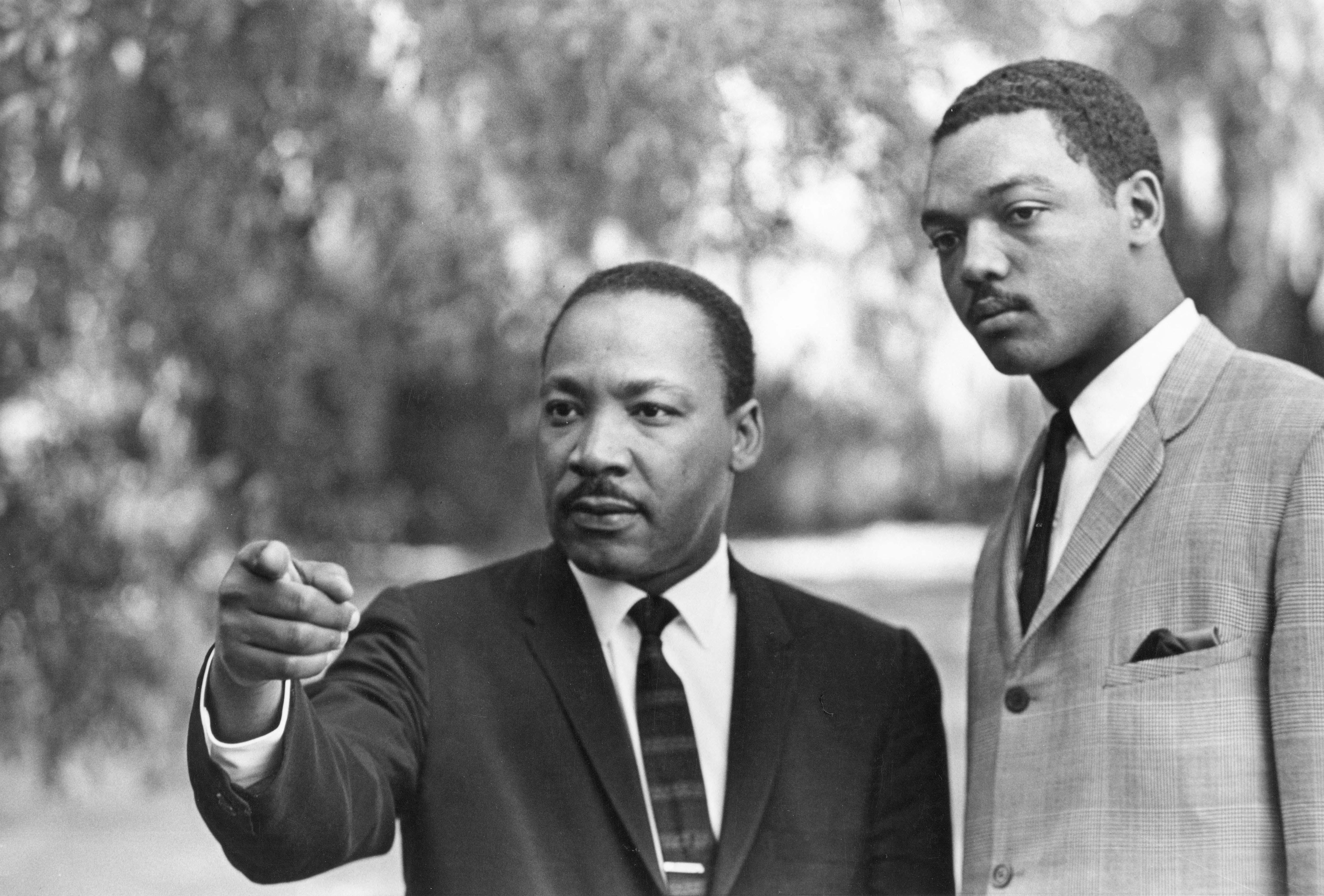 Dr. Martin Luther King Jr. and Rev. Jesse Jackson (Credit: Bob Fitch)