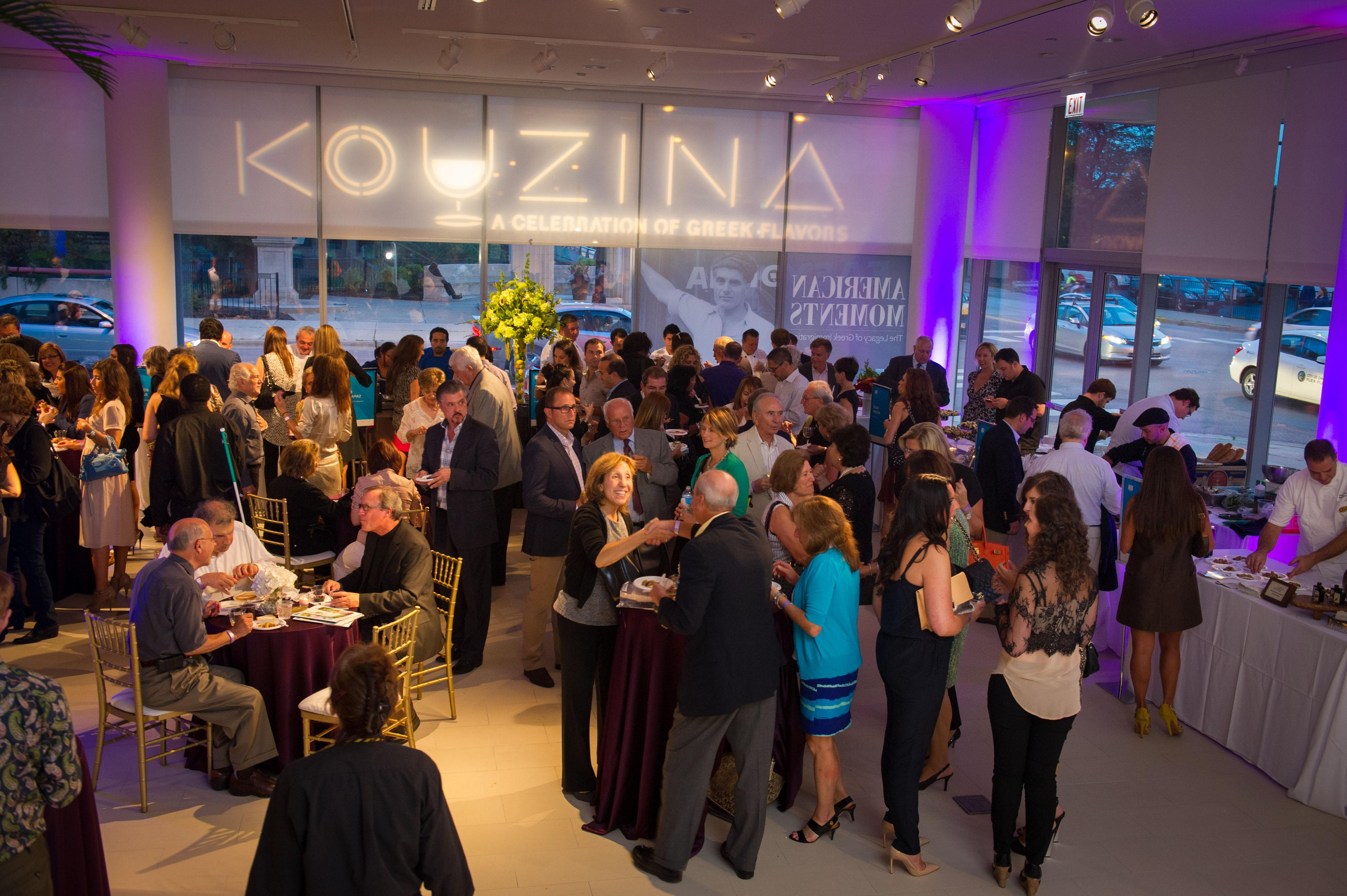 Night at the museum: Raise a glass while raising funds for a local museum at Kouzina. (Courtesy of the National Hellenic Museum)