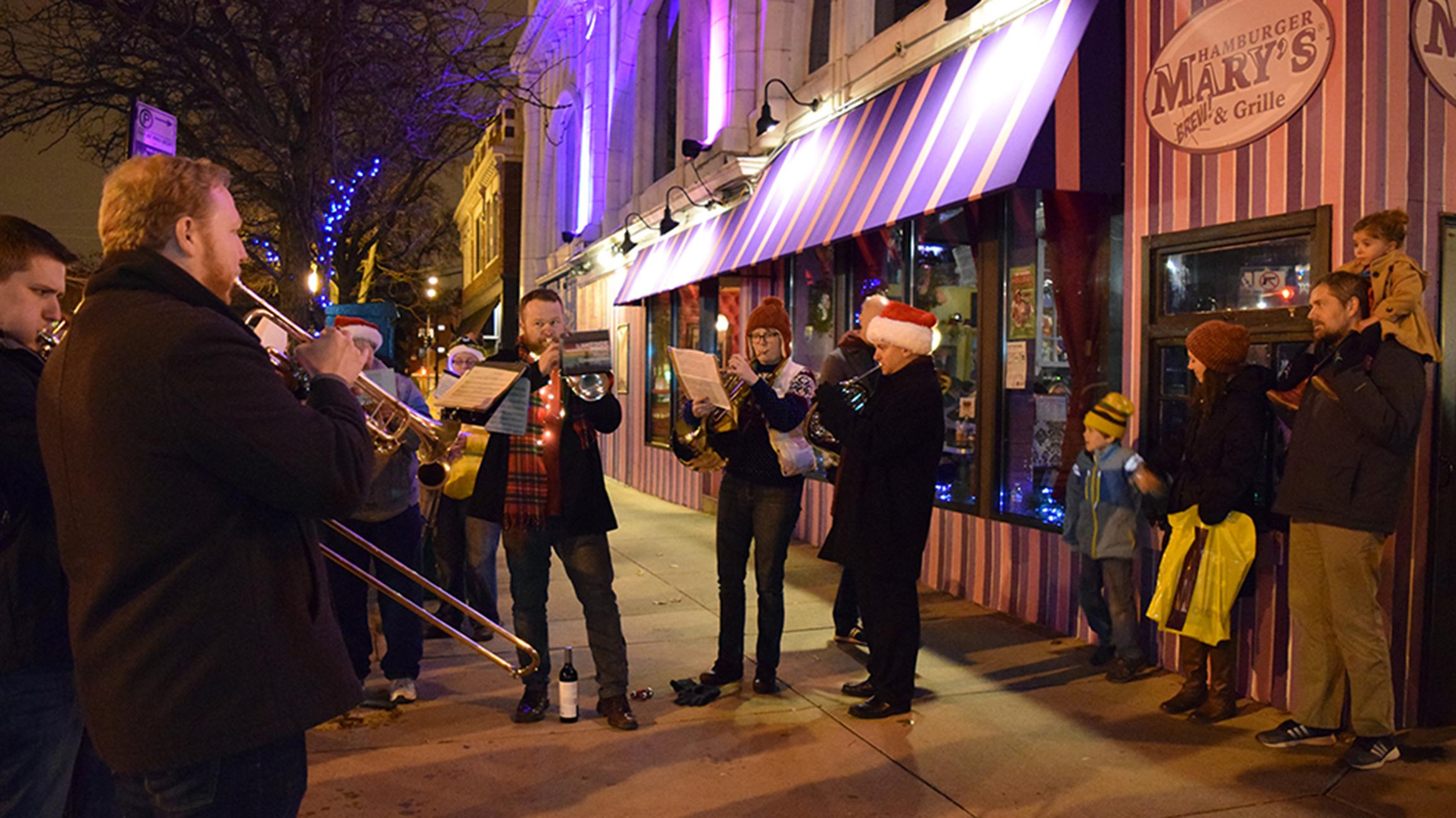 The Lakeside Pride Ensemble performs on Dec. 2 at Late Night Andersonville. (Courtesy of Andersonville Chamber of Commerce)
