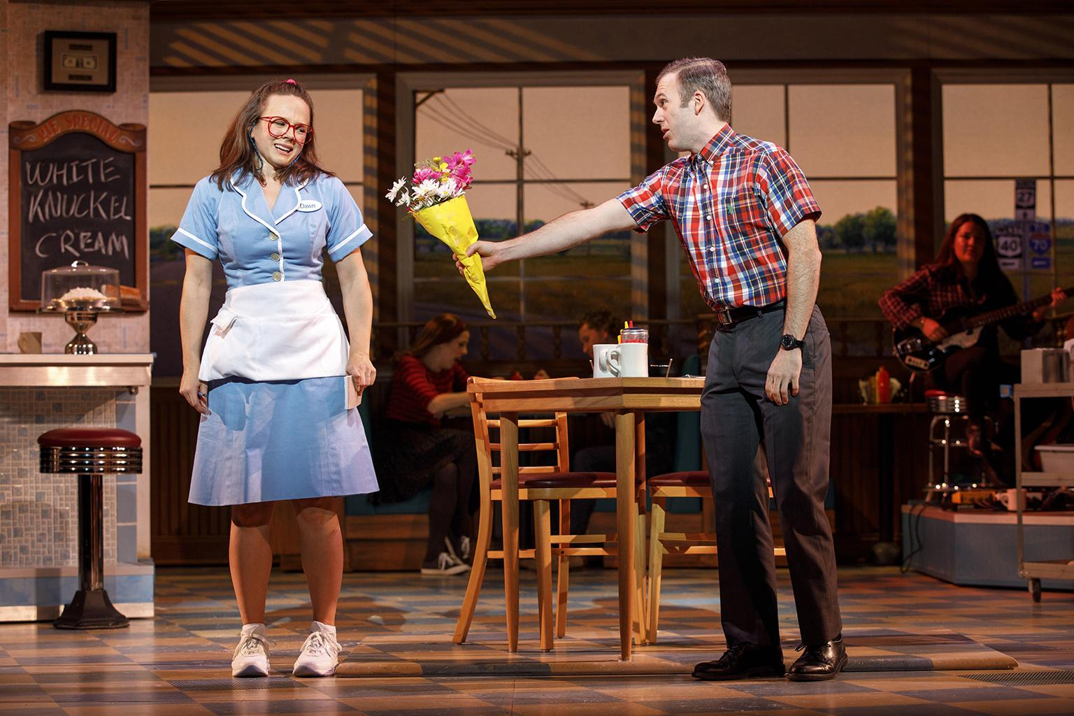 "Lenne Klingaman and Jeremy Morse in ""Waitress."" (Credit: Joan Marcus)"