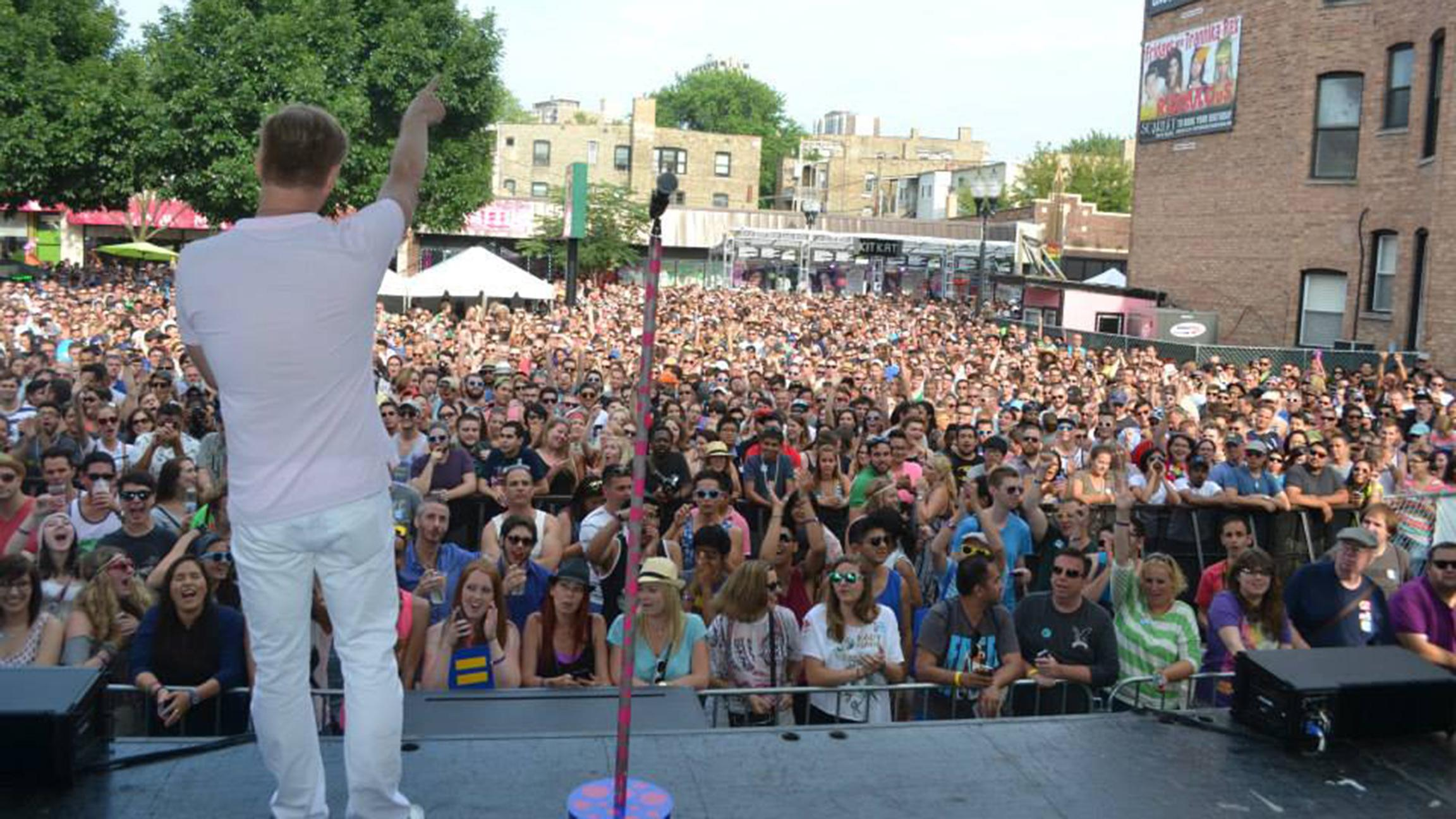 Organizers say more than 180,000 people flock to Halsted Street for the annual Market Days Festival. (Courtesy Northalsted Business Alliance)