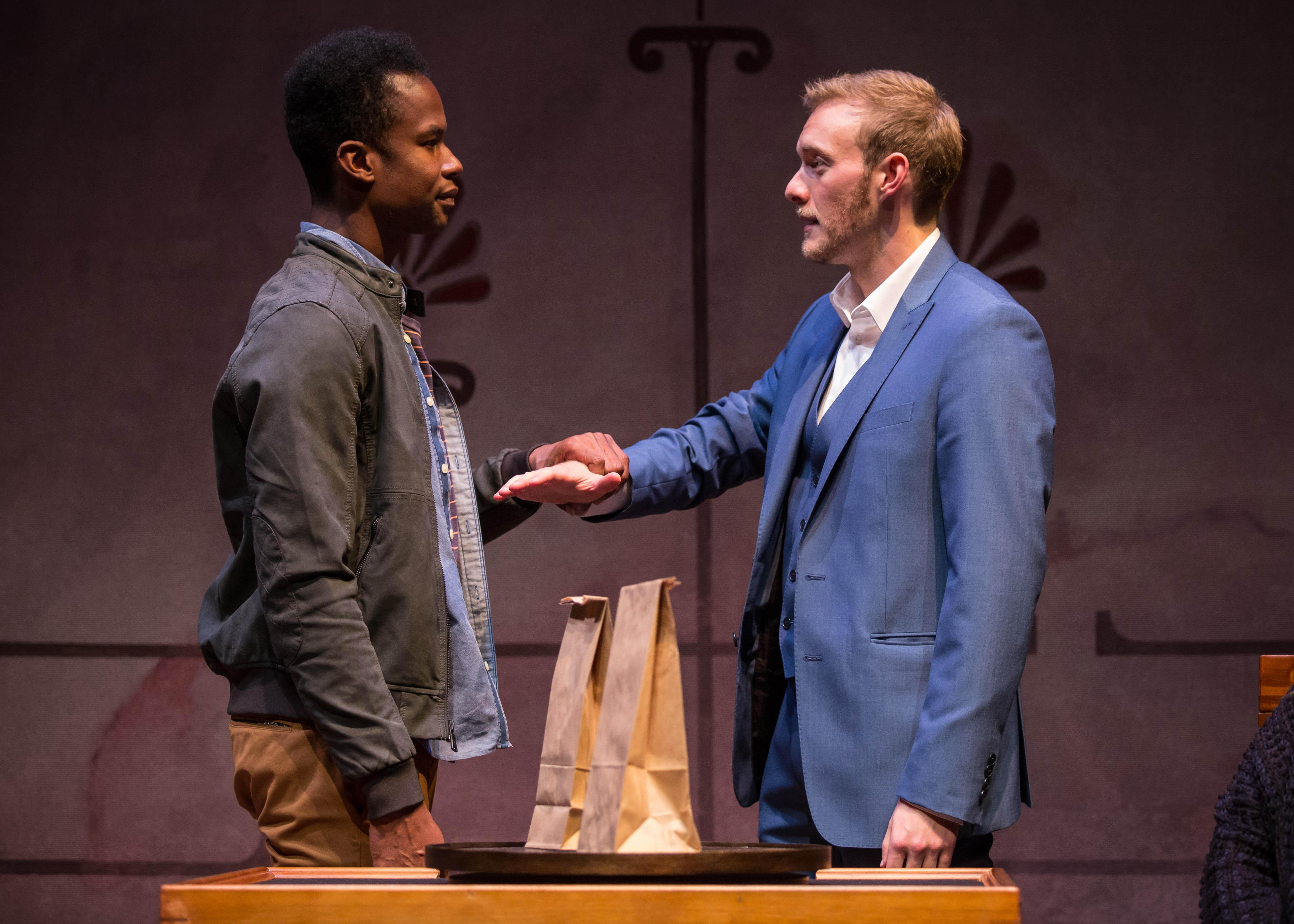 "Sean Parris and Brett Schneider in ""The Magic Play."" (Liz Lauren / Goodman Theatre"