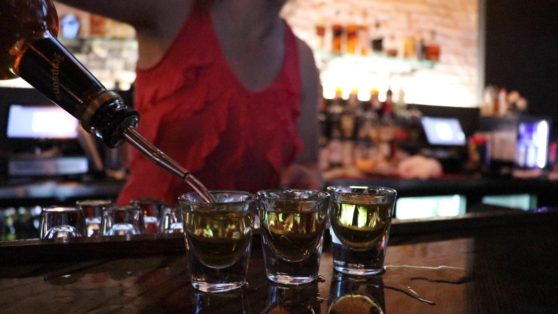 Legend has it that Malort's inventor Carl Jeppson enjoyed the drink because its strong taste was still picked up by his taste buds, damaged from years of excessive smoking. (Evan Garcia / WTTW News)