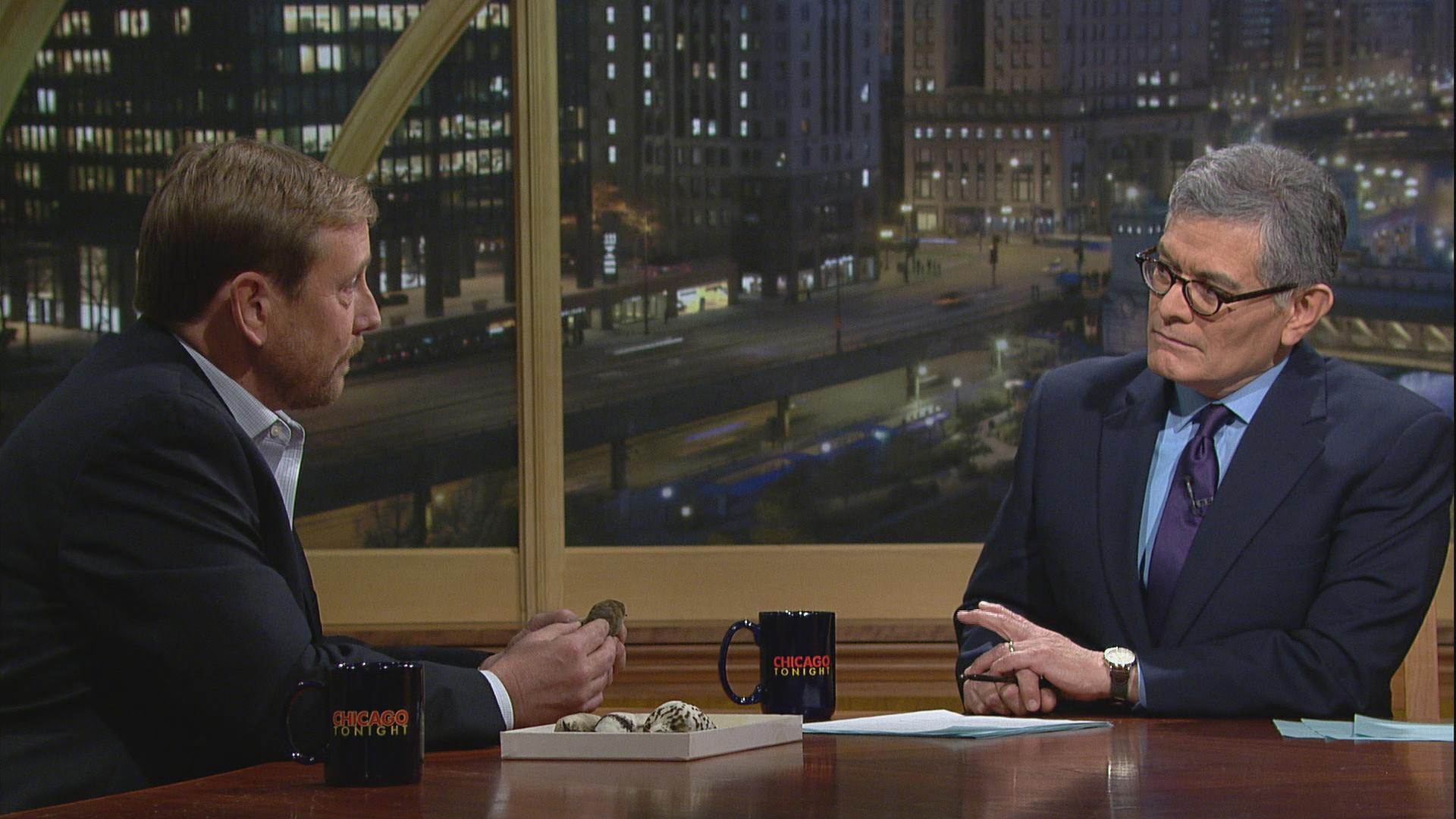 Pete Marra appears on Chicago Tonight with host Phil Ponce on Feb. 1.