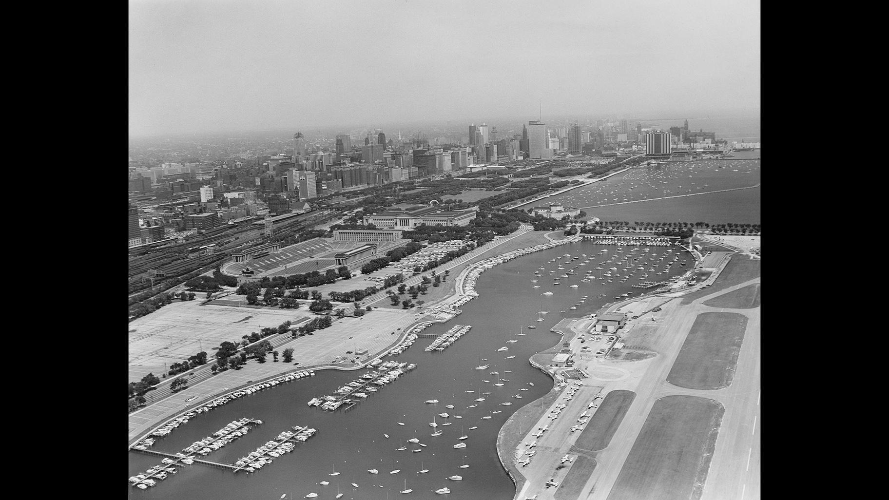 An overview of Meigs Field (Courtesy of Chicago History Museum)