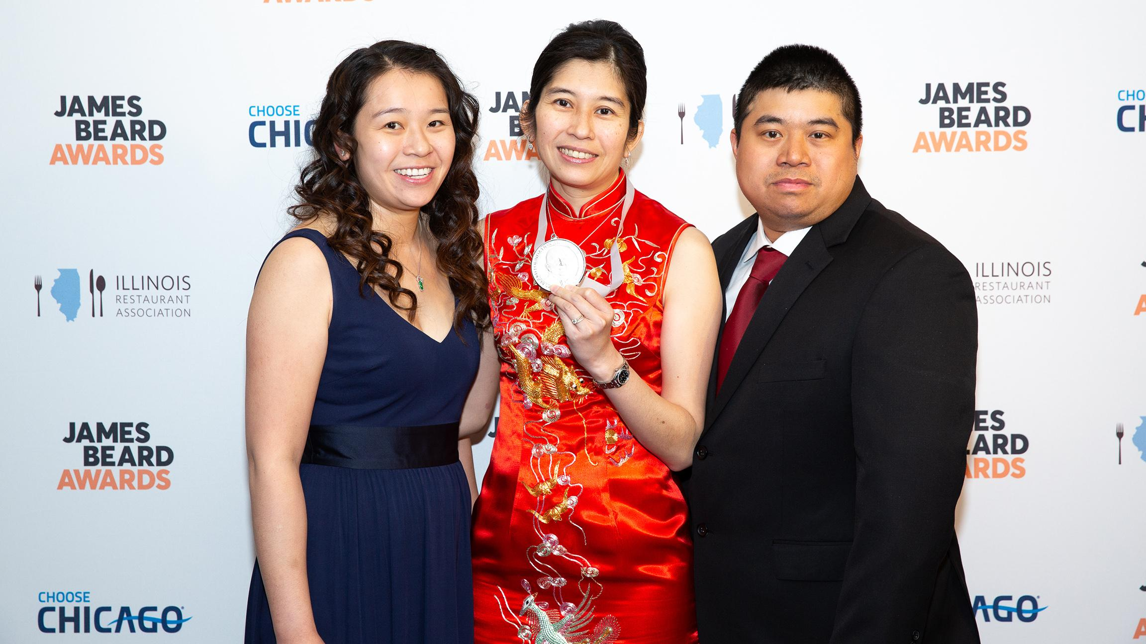 The Cheng family: Laura, left, Kelly and Michael. (Courtesy James Beard Foundation)