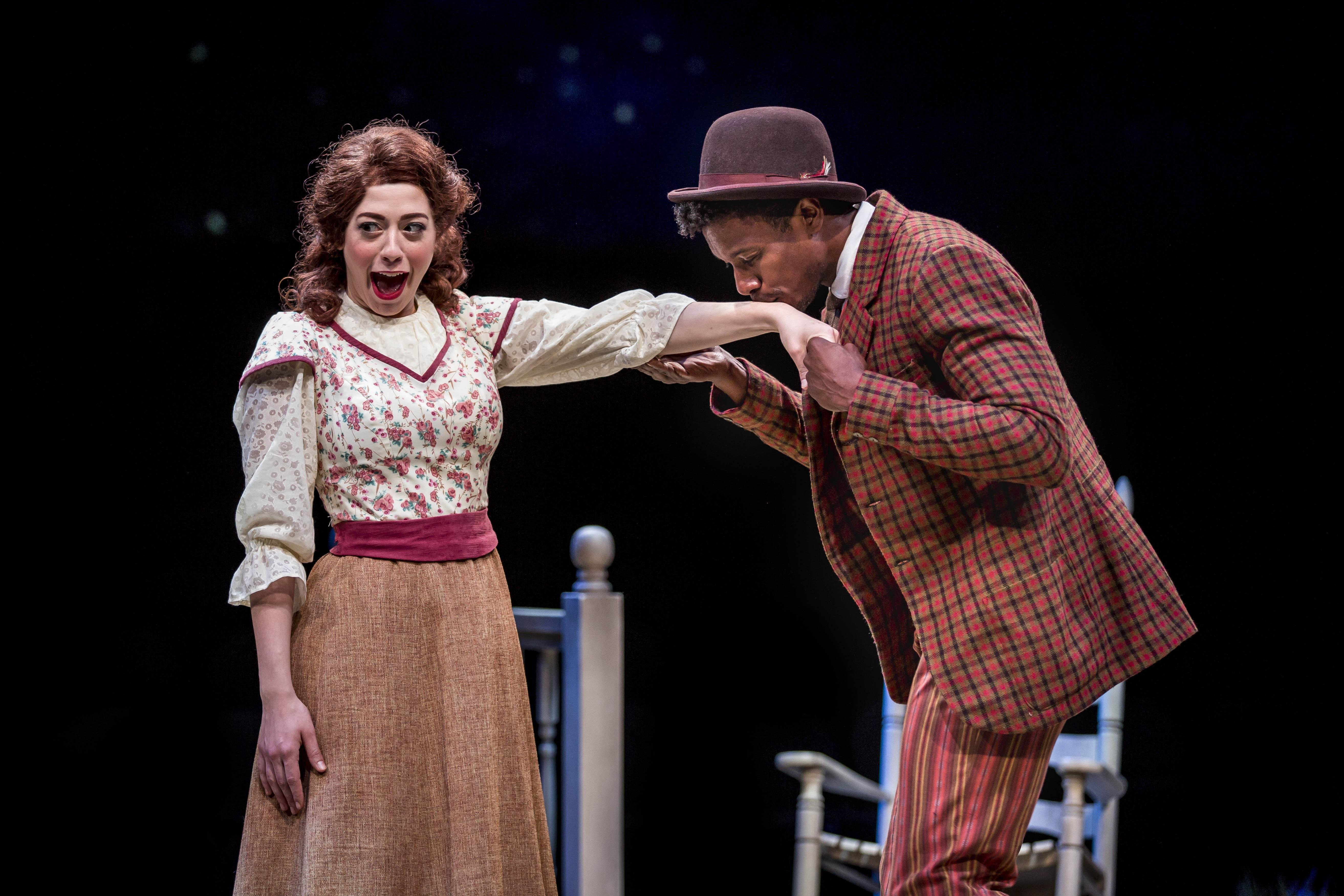 "Michelle Lauto and Evan Tyrone Martin in ""Oklahoma!"" (Photo by Liz Lauren)"
