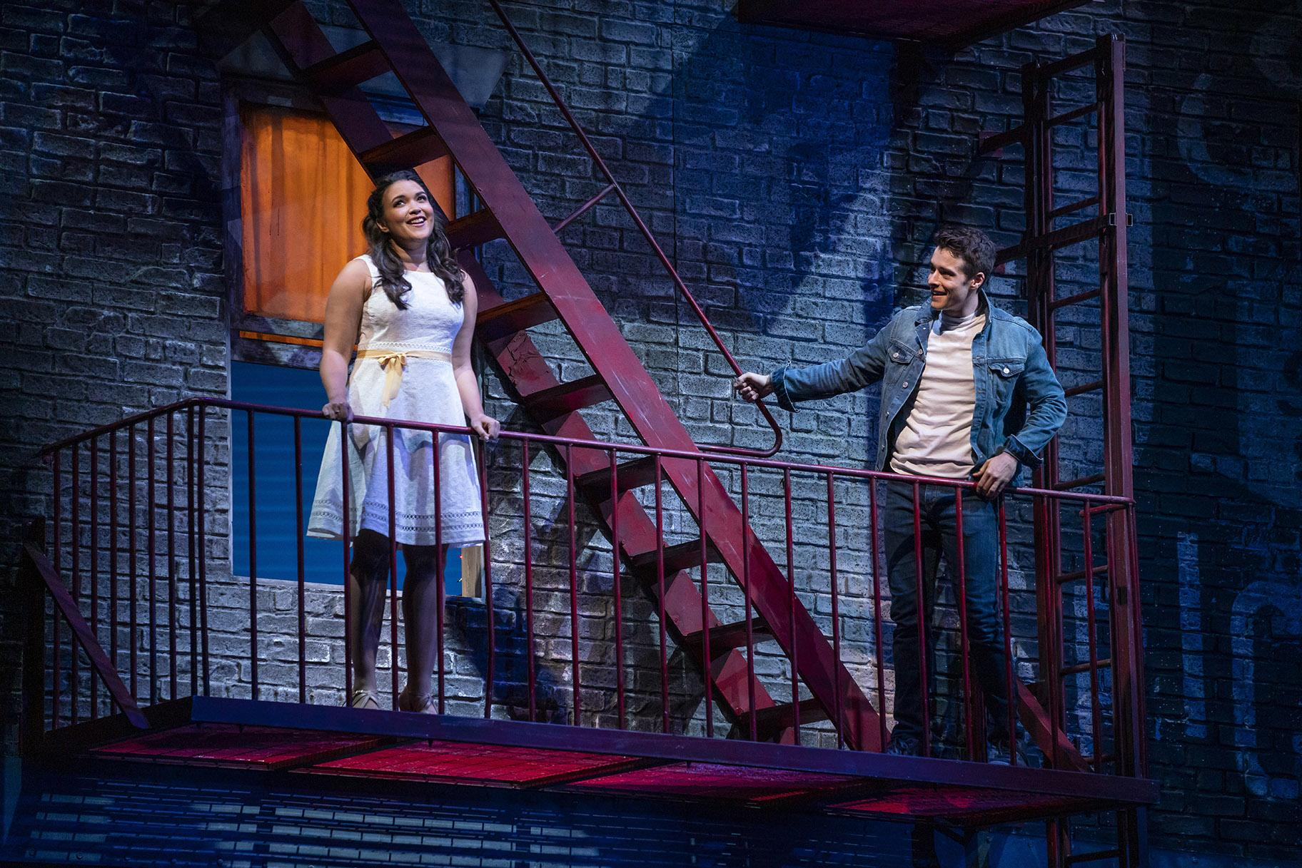"Mikaela Bennett and Corey Cott in ""West Side Story."" (Photo credit: Todd Rosenberg)"