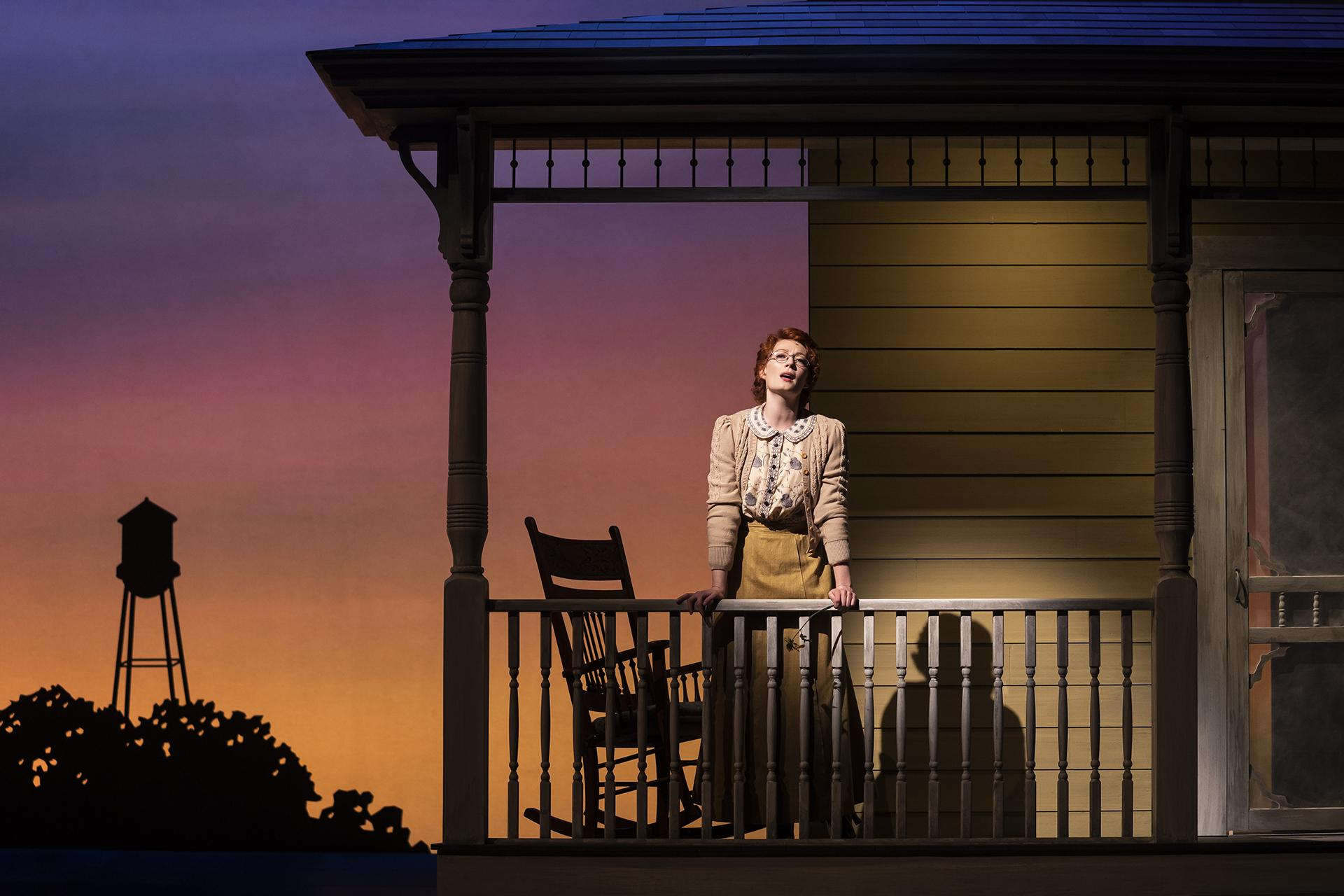 "Monica West (Marian Paroo) in ""The Music Man"" with music and lyrics by Meredith Willson and a book by Meredith Willson and Franklin Lacey, directed by Mary Zimmerman. (Photo by Liz Lauren)"
