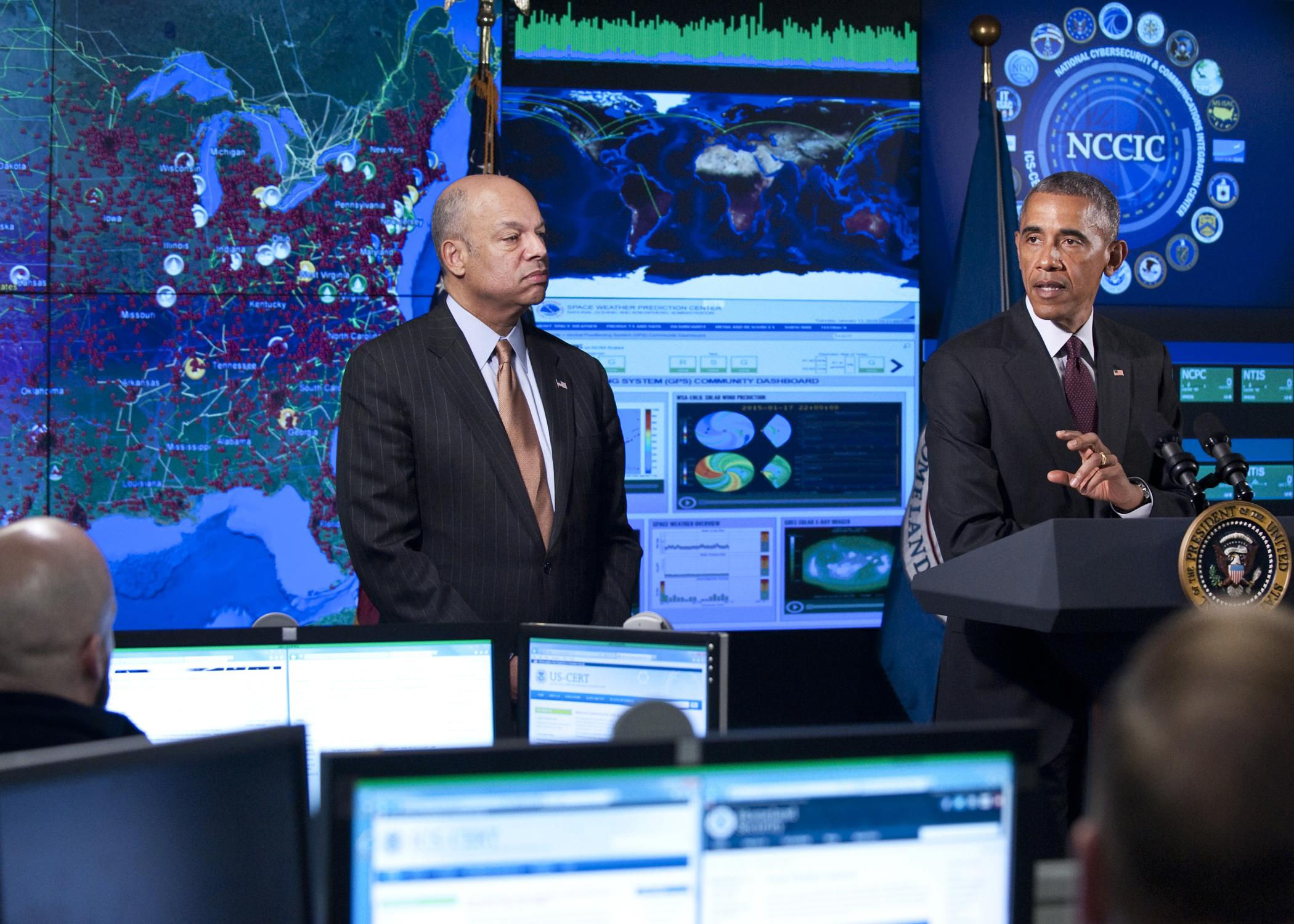 The Department of Homeland Security's National Cybersecurity and Communications Integration Center opened in 2009 to help DHS monitor cyber threats across government agencies. (DHS)