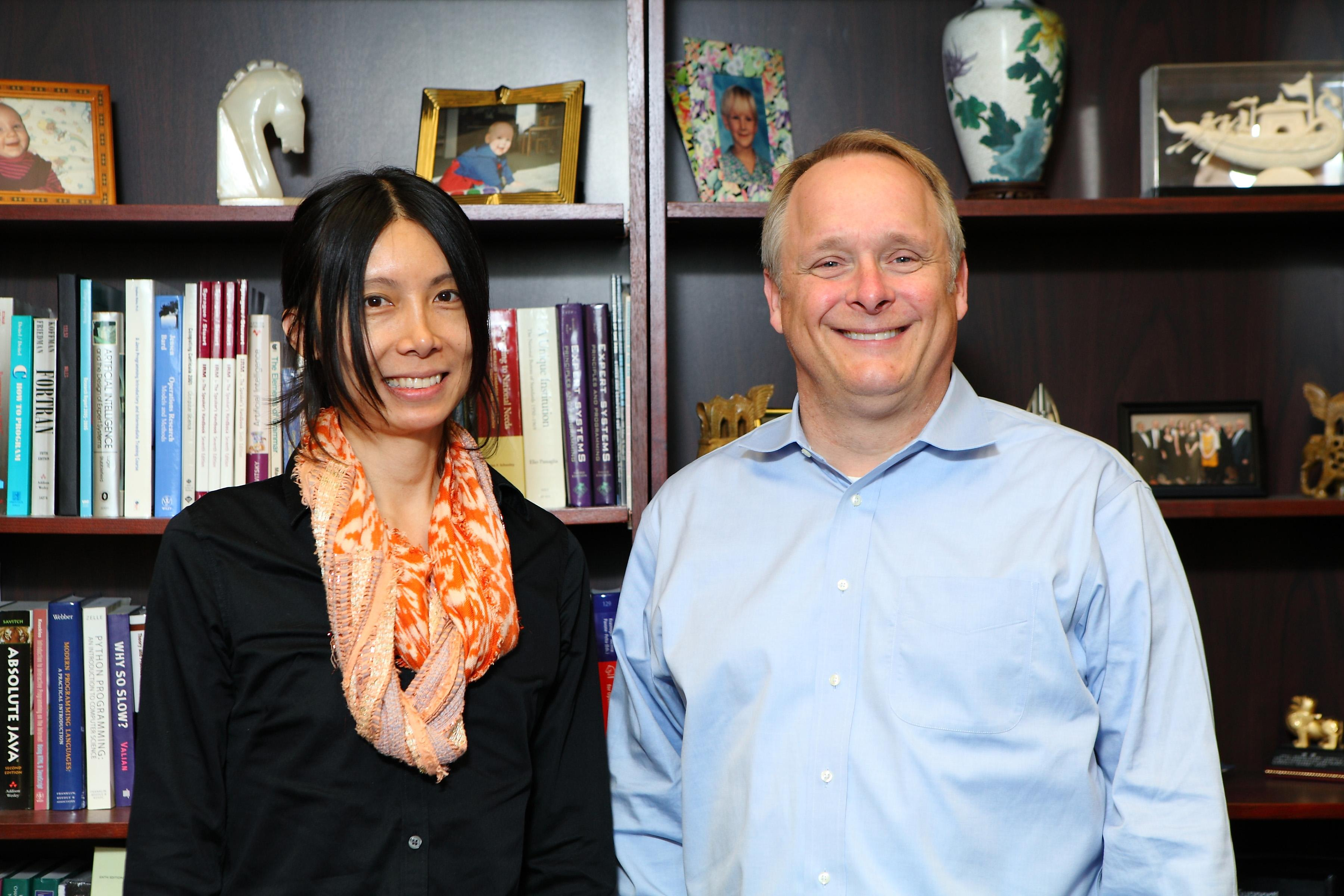Dr. Alex Leow and Peter Nelson  (Jenny Fontaine / University of Illinois at Chicago)