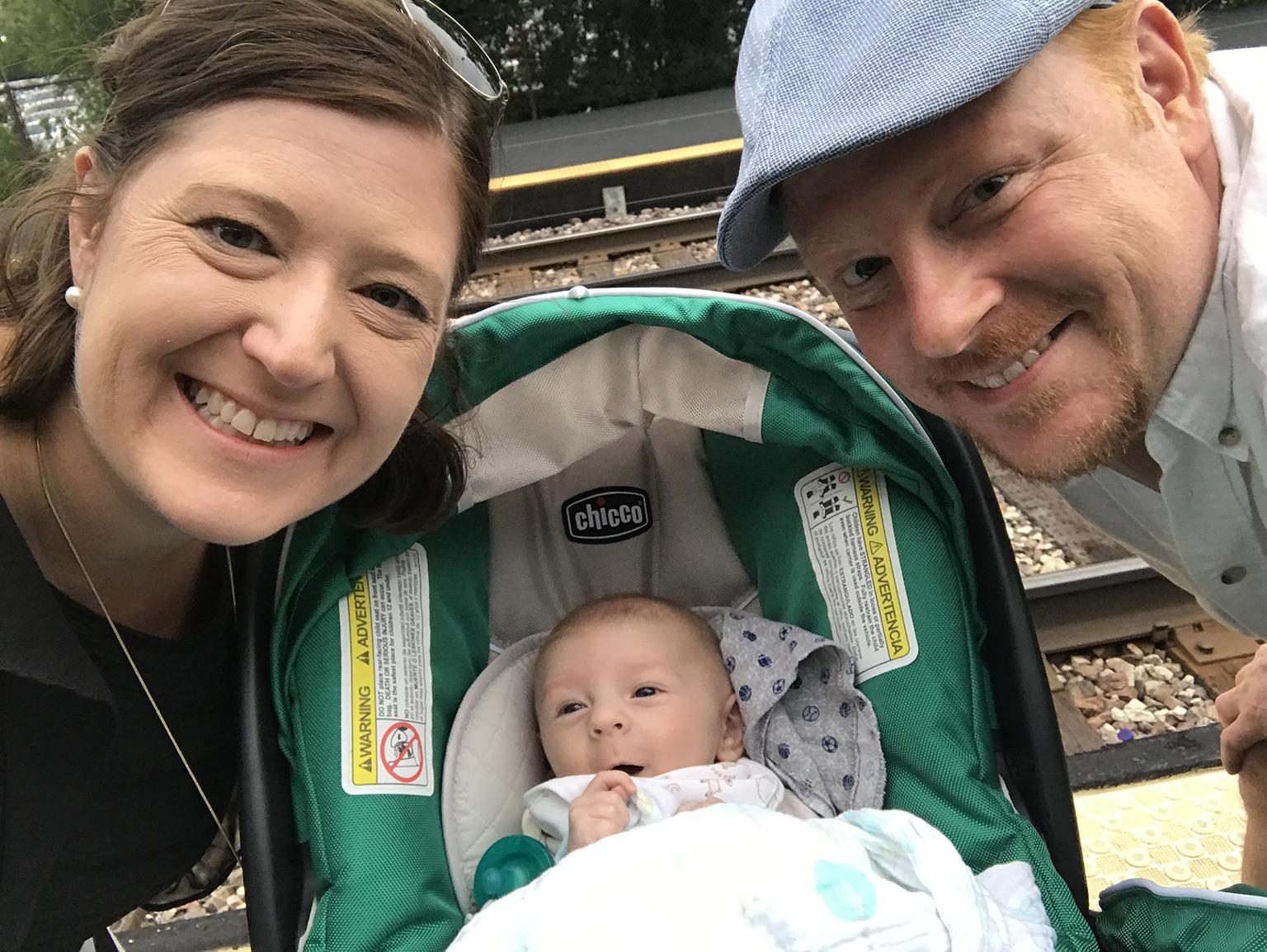 Genevieve and Darren Coady with their son, Oliver. (Courtesy Genevieve Coady)