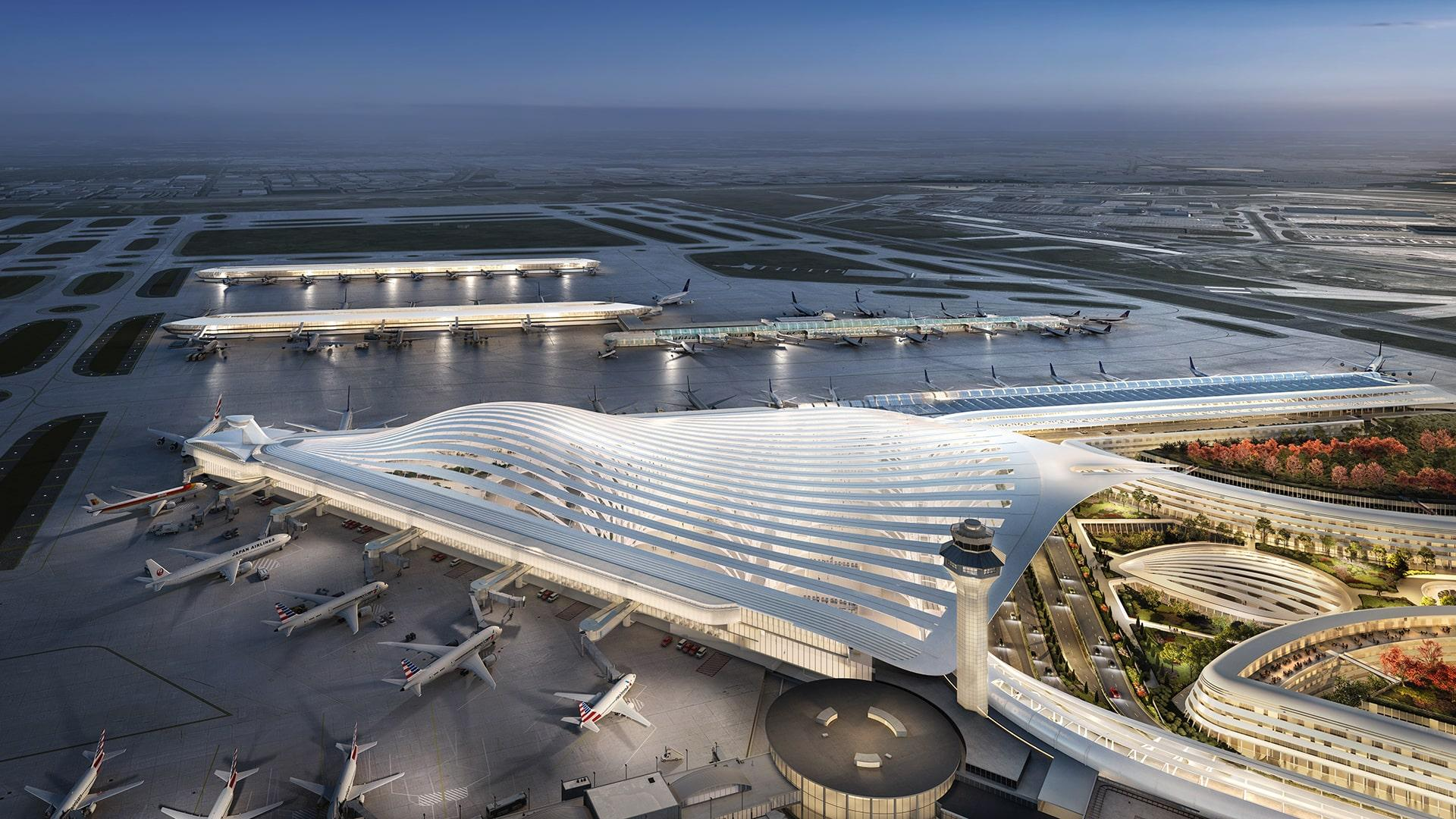 The O'Hare expansion proposal from Santiago Calatrava (Chicago Department of Aviation)
