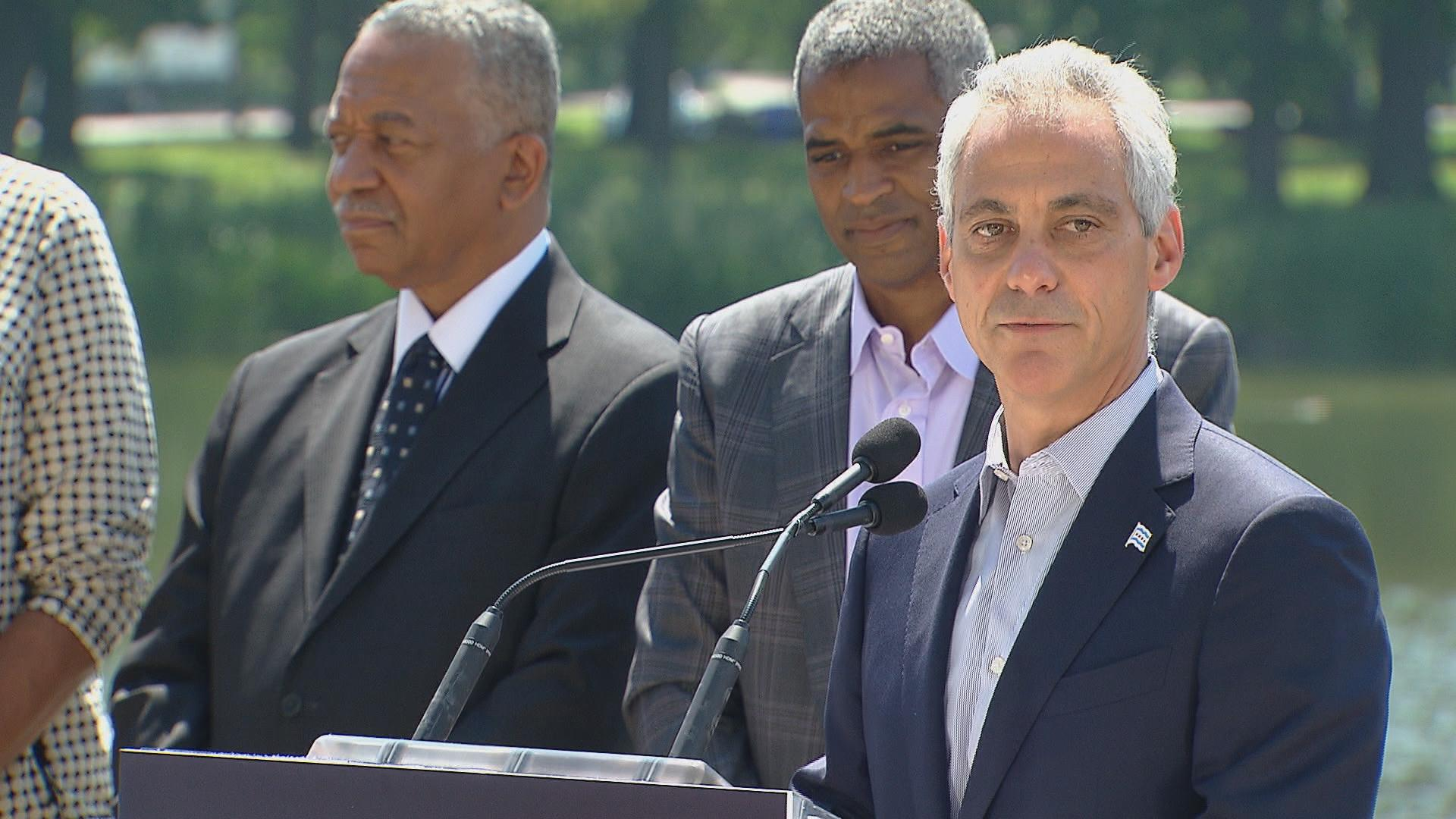 "Mayor Rahm Emanuel: ""I want to make sure the entire city of Chicago, specifically the South Side of Chicago, benefits from a once-in-a-lifetime cultural and educational investment."""