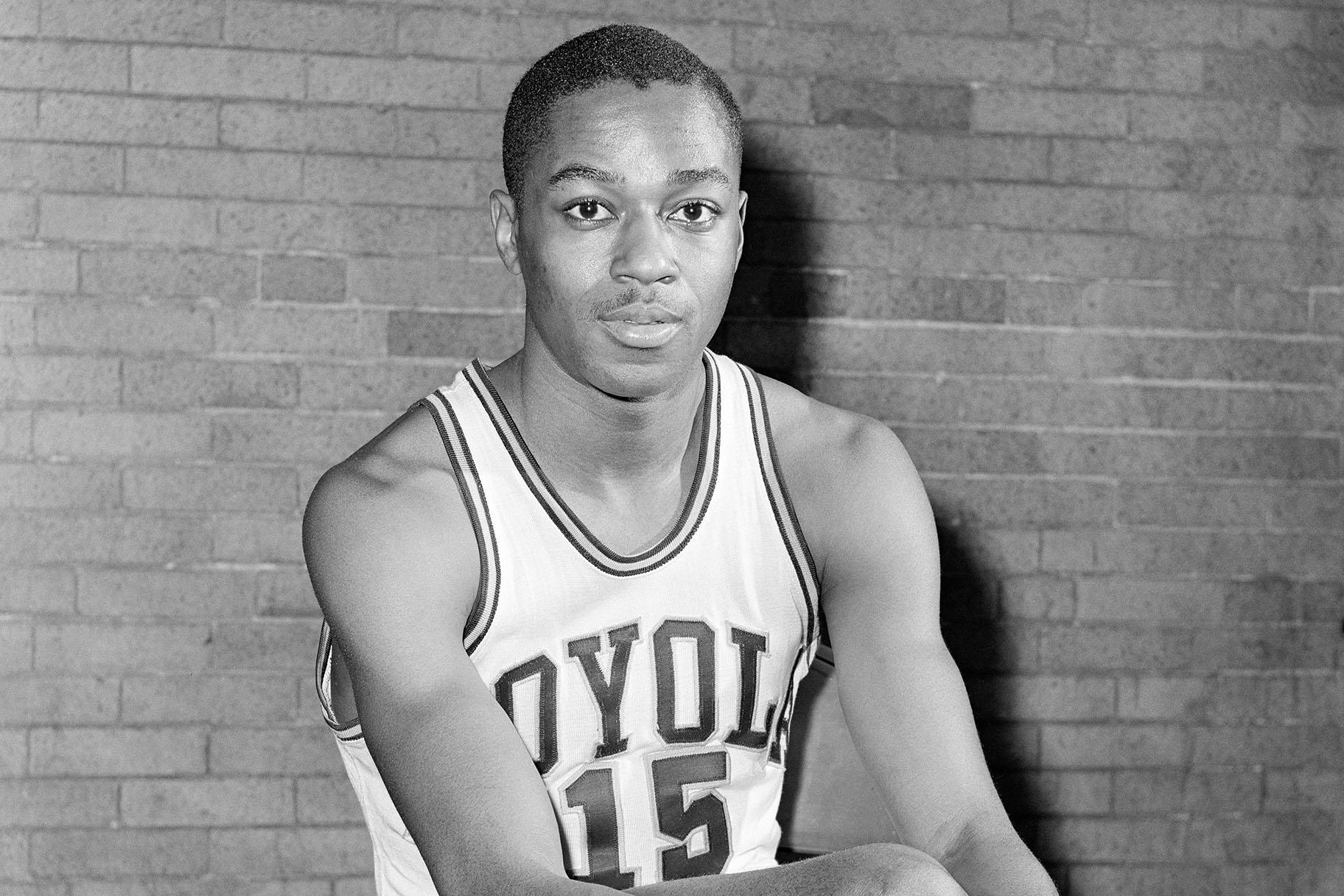 This is a file photo from February 20, 1963 showing Loyola University basketball player Jerry Harkness.  (AP Photo / Paul Cannon, File)