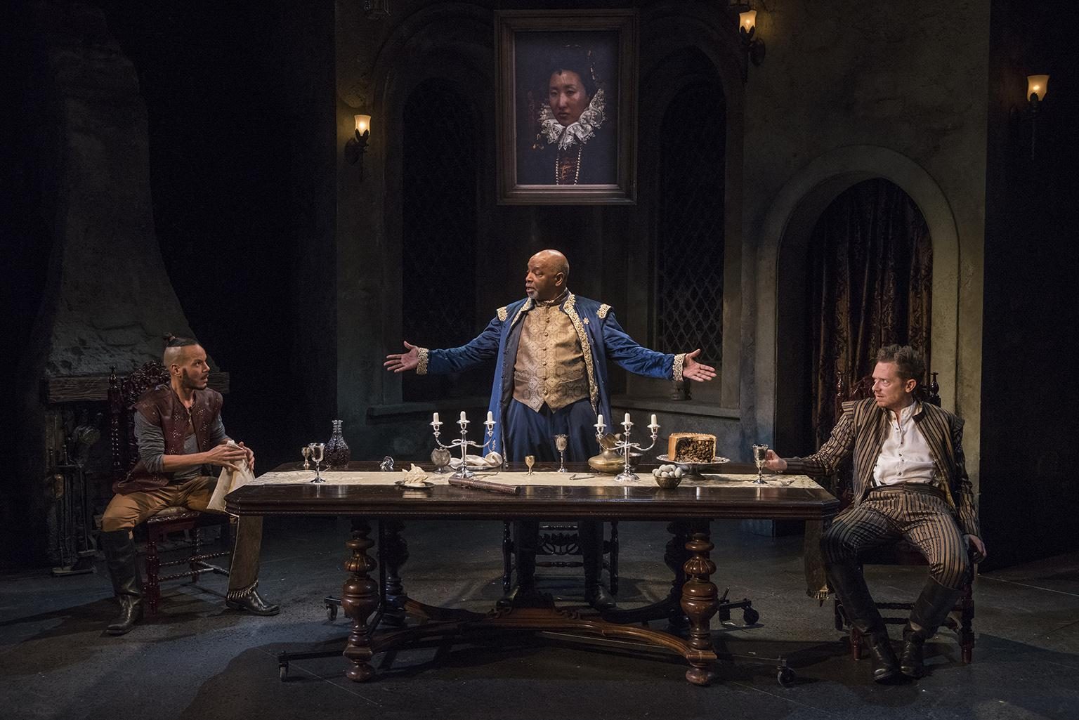 "From left: Jon Hudson Odom, David Alan Anderson and Steve Haggard in ""Witch."" (Photo credit: Michael Brosilow)"