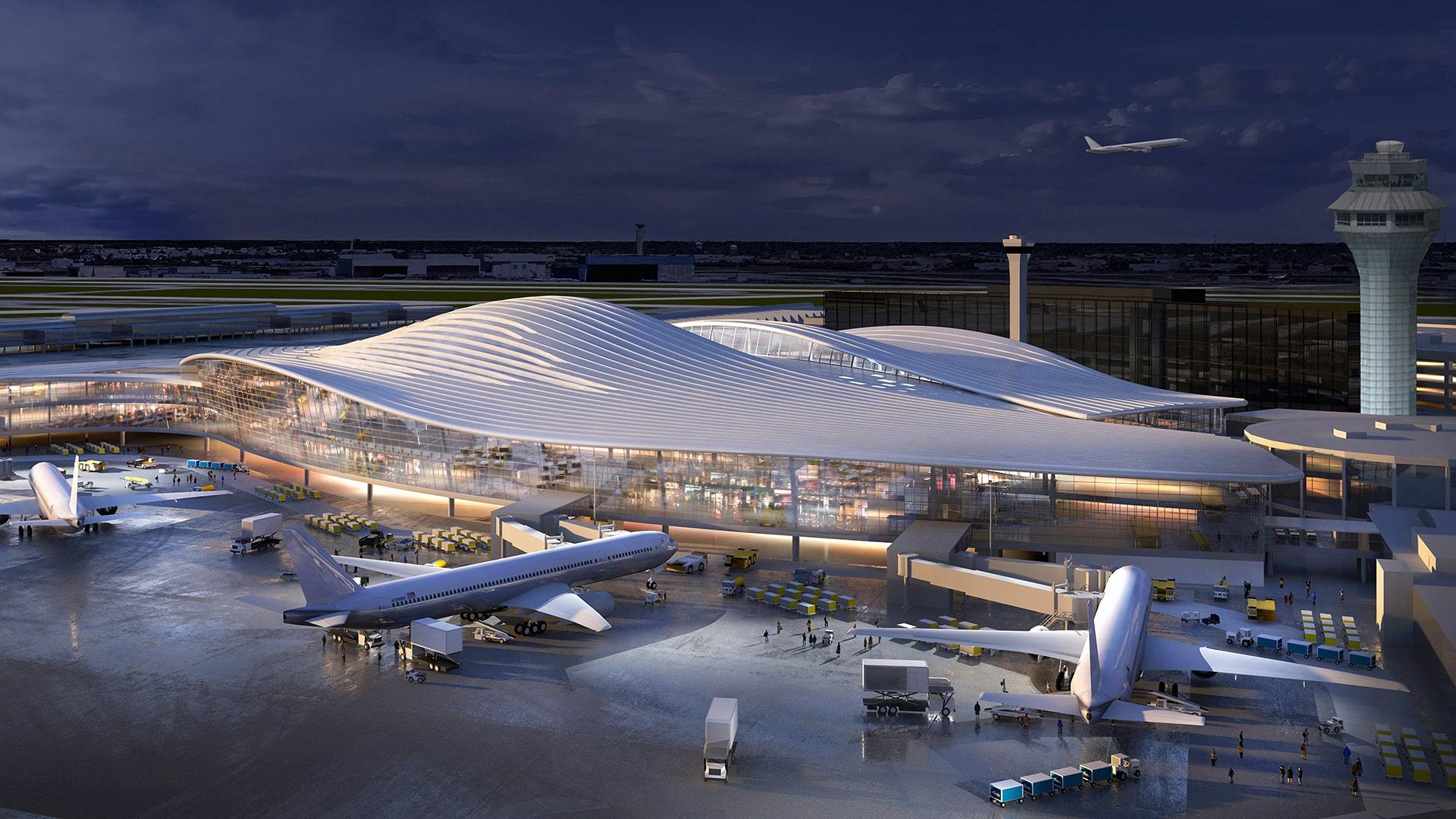 The O'Hare expansion proposal from Fentress-EXP-Brook-Garza Joint Venture (Chicago Department of Aviation)