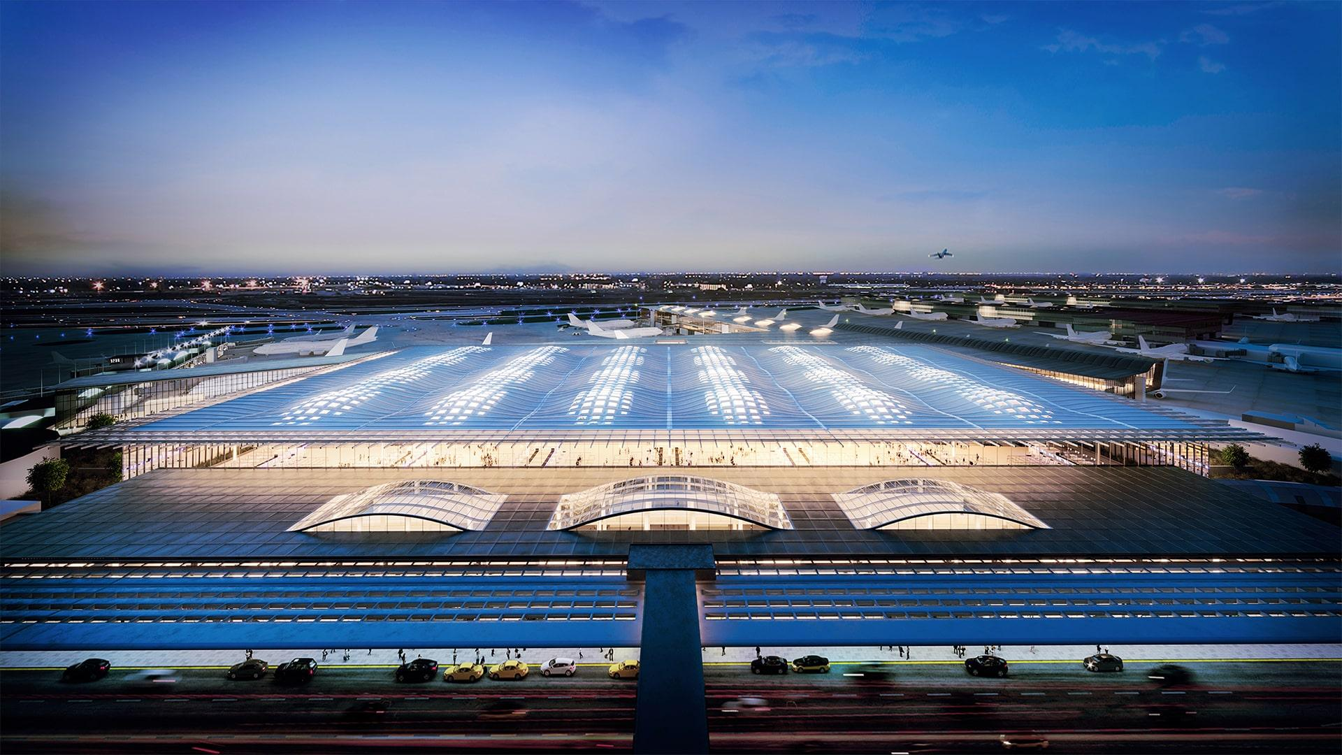 The O'Hare expansion proposal from Skidmore, Owings & Merrill (Chicago Department of Aviation)