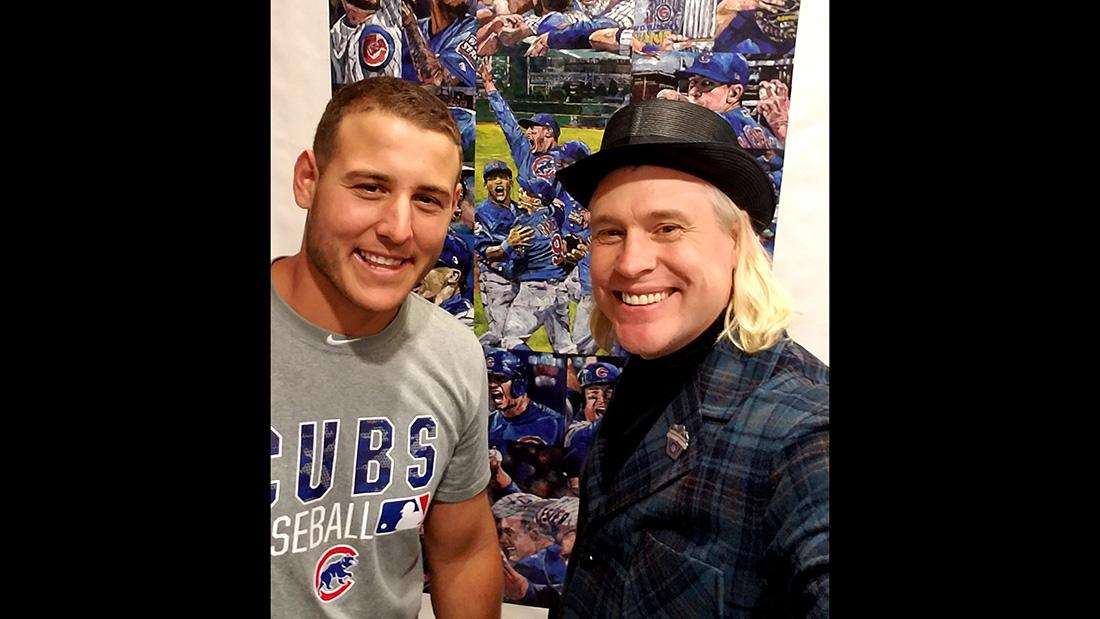 Anthony Rizzo and Opie Otterstad. (Courtesy of Relevant Communications)
