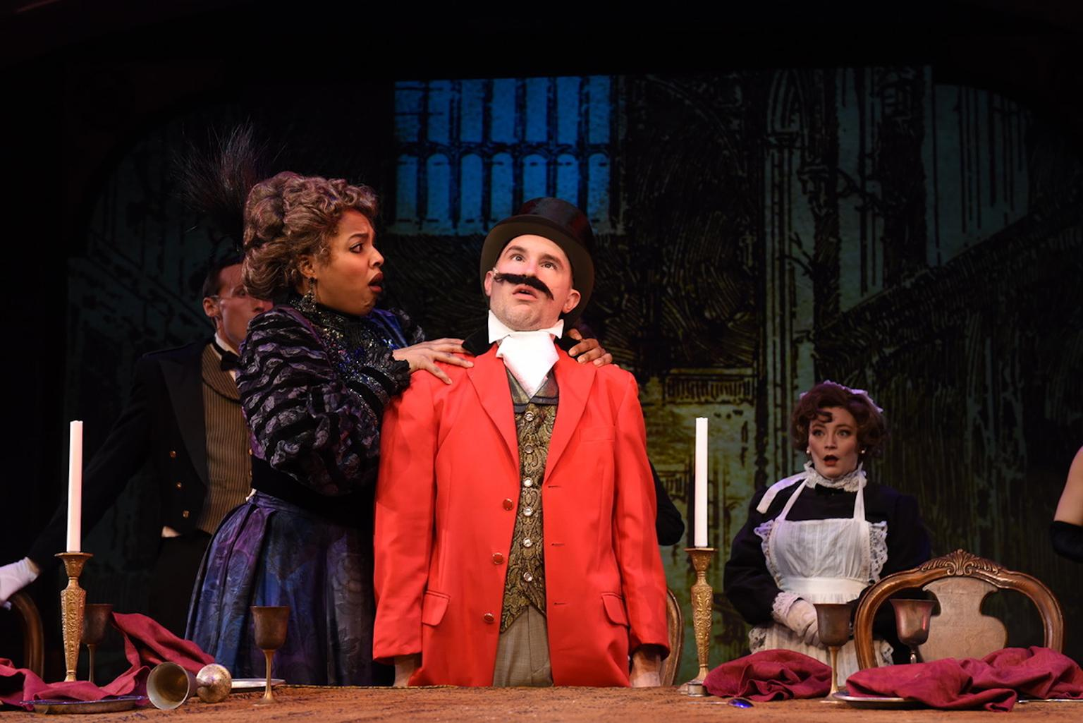 "Sharriese Hamilton and Matt Crowle in ""A Gentleman's Guide to Love & Murder."" (Photo by Michael Courier)"
