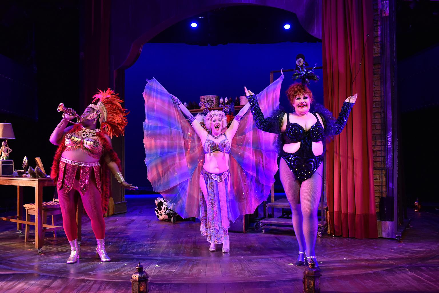 "From left: Dawn Bless, Melissa Young and Honey West in ""Gypsy."" (Photo by Michael Courier)"