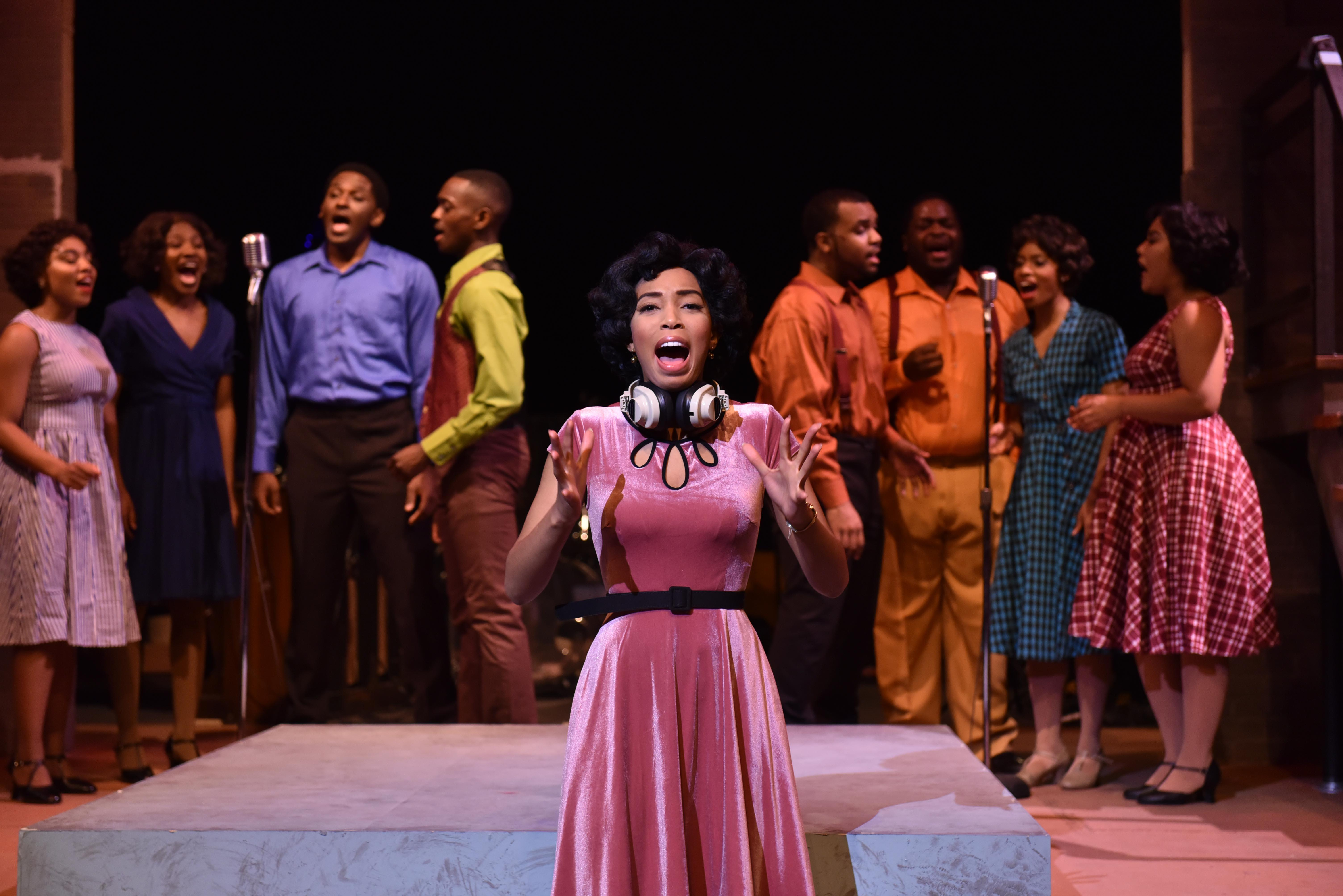 "Aeriel Williams, center, in ""Memphis."" (Photo by Michael Courier)"