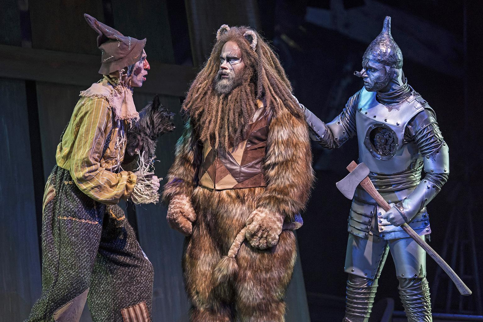 "From left: Kyle Adams, Paul-Jordan Jansen and Carl in ""The Wizard of Oz."" (Photo credit: Liz Lauren)"