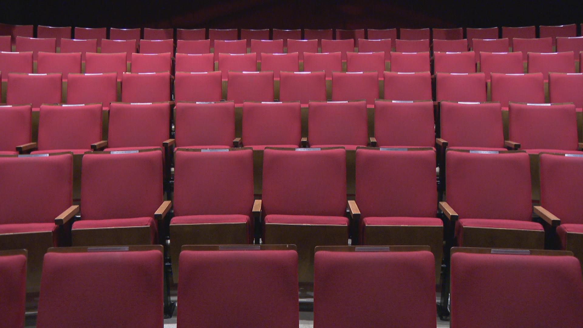 Empty theater seats. A sign of the (strange) times? (WTTW News)