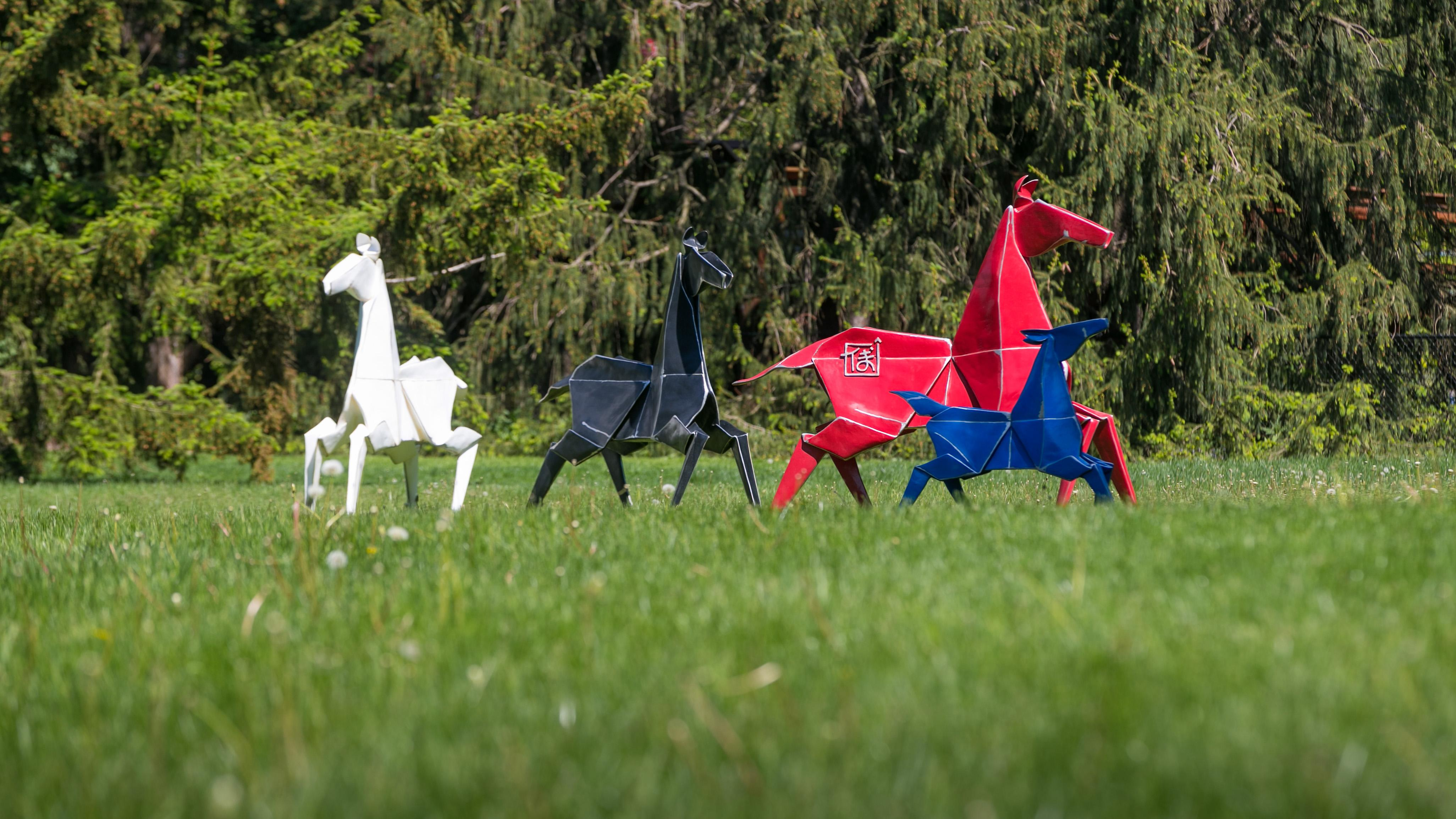 """Painted Ponies"" is one of 25 displays debuting at The Morton Arboretum Friday. (Courtesy of The Morton Arboretum)"