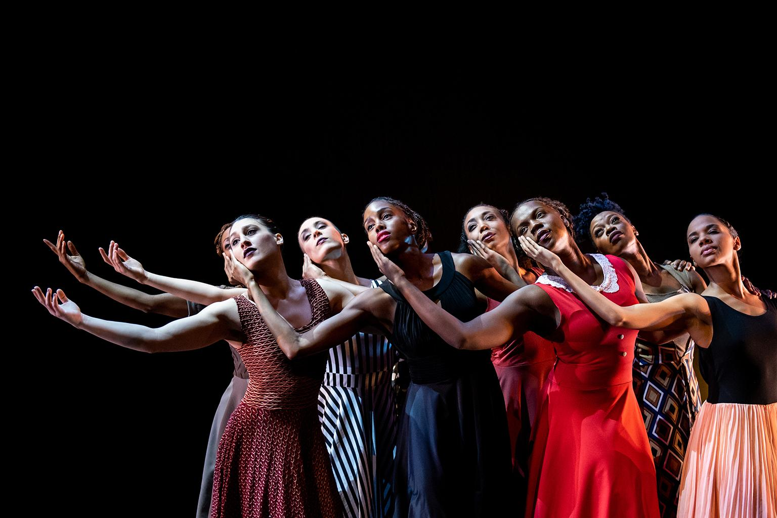 "Deeply Rooted Dance Theater company performs ""Parallel Lives."" (Photo by Michelle Reid)"