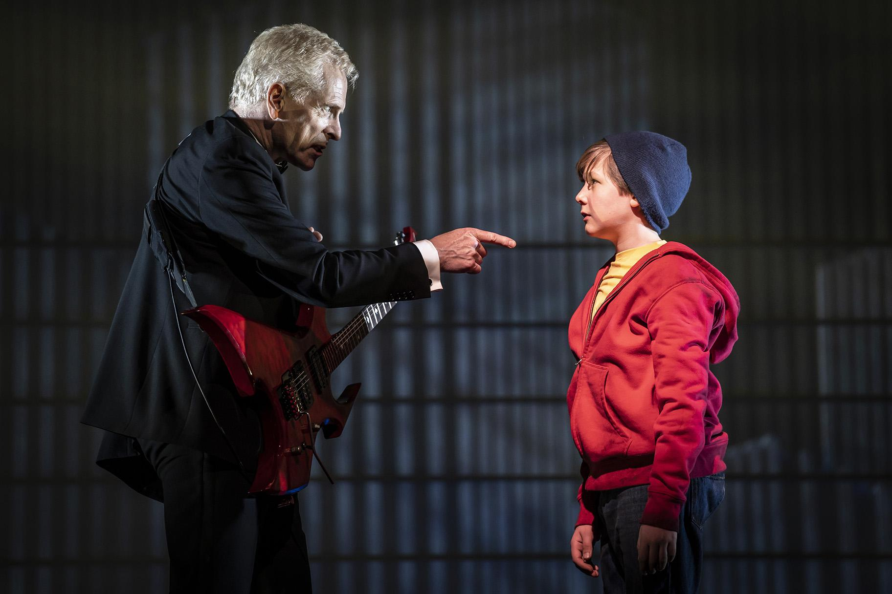 "John Hickok, left, and Jack McCarthy in ""August Rush: The Musical."" (Photo credit: Liz Lauren)"