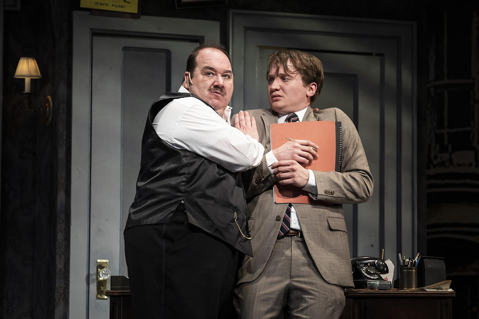 "Blake Hammond, left, and Jake Morrissy in ""The Producers."" (Photo credit: Liz Lauren)"