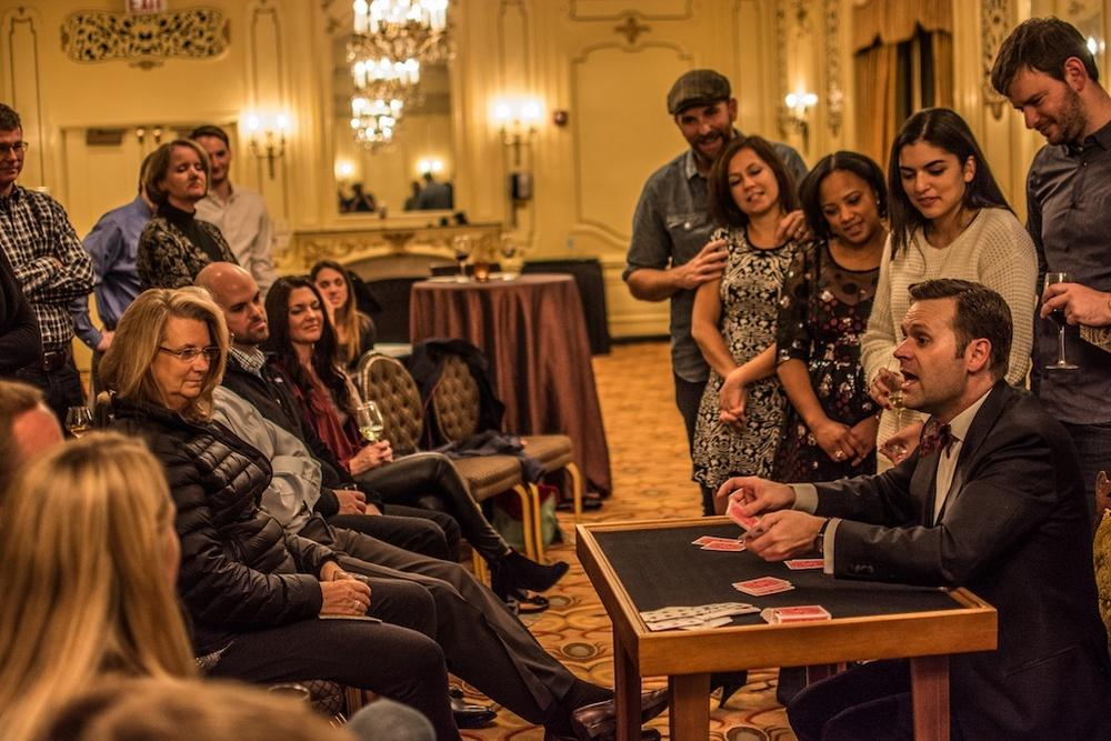 "Magician Dennis Watkins performs in ""The Magic Parlour"" at the Palmer House. (Ryan Borque)"