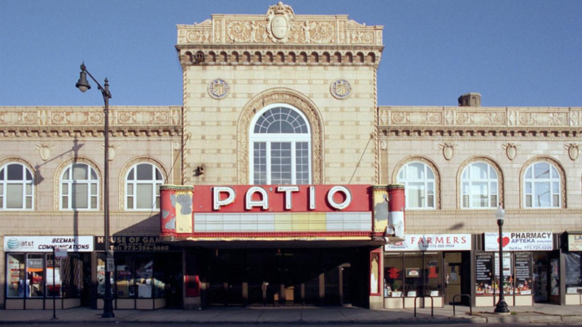 Located in Chicago's Portage Park neighborhood, the Patio Theater was originally opened in 1927 and subsequently closed in 2001 due to a faulty air conditioning system. The movie theater reopened in May 2016 under new ownership. (Courtesy of Forgotten Chicago)