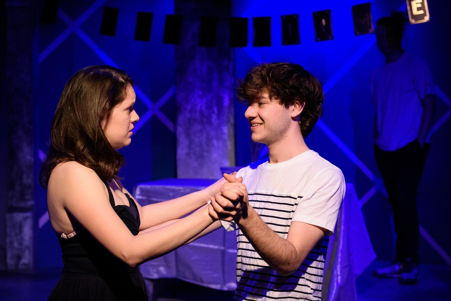 "Marianna Gallegos and Sam Godinez ""A Green Light"" in the 32nd Annual Young Playwrights Festival at Pegasus Theatre Chicago (Photo by Michael Courier)"