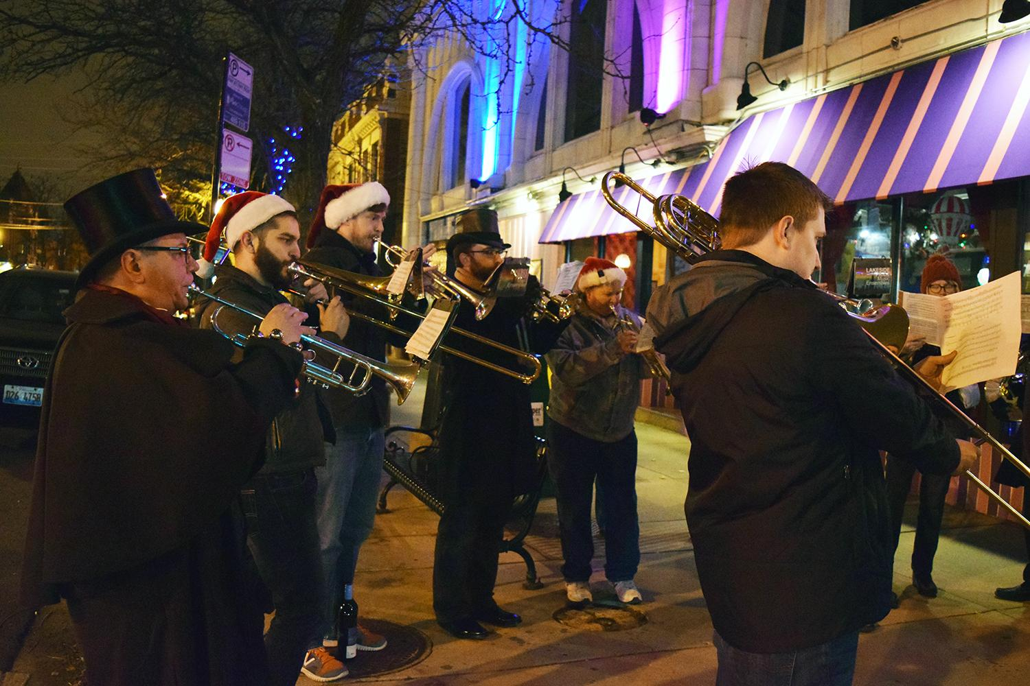 The Lakeside Pride Music Ensemble plays during Andersonville Late Nights. (Courtesy Andersonville Chamber of Commerce)