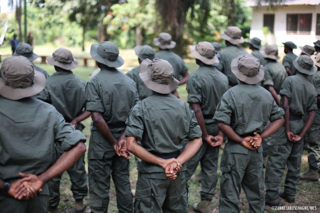 Park rangers at the Nouabale-Ndoki National Park in the Republic of Congo (Z. Labuschagne / Wildlife Conservation Society)