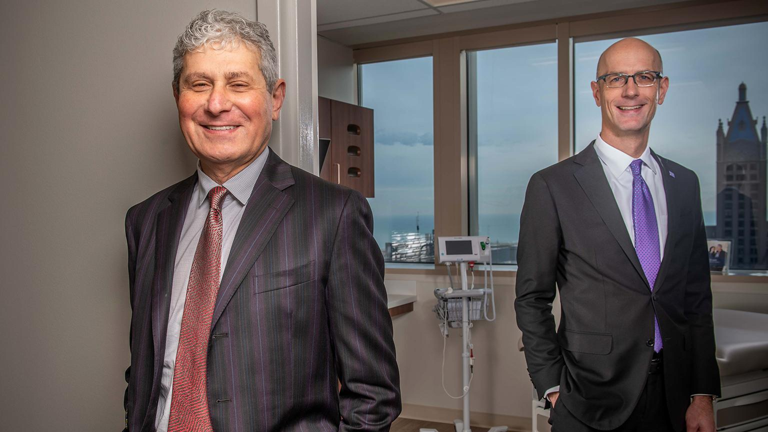 Michael Polsky and Dr. Edward Schaeffer of Northwestern (Courtesy of Northwestern Medicine)