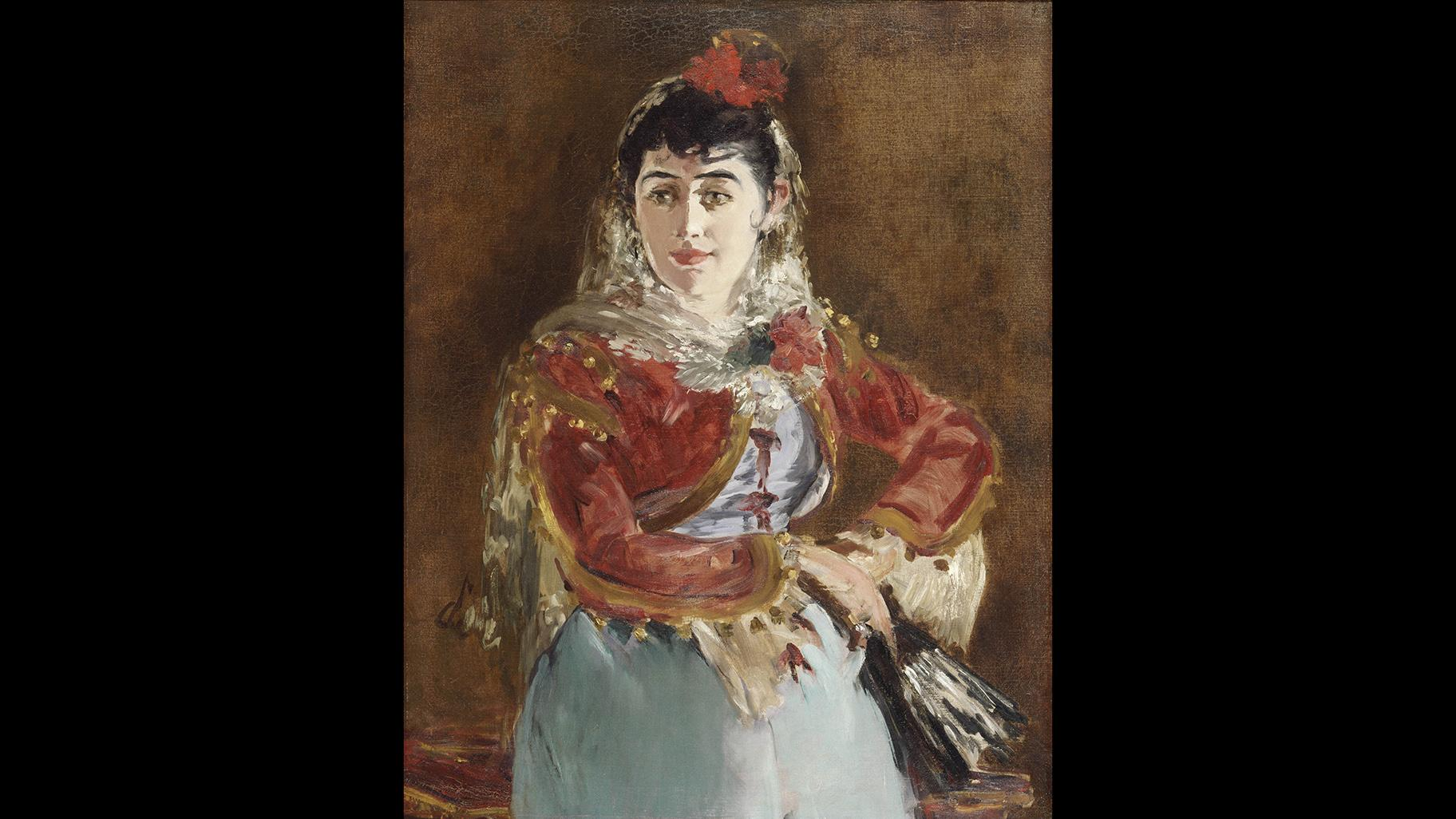 "Édouard Manet. ""Portrait of Émilie Ambre as Carmen,"" 1880. Philadelphia Museum of Art. Gift of Edgar Scott, 1964. Courtesy of the Philadelphia Museum of Art."