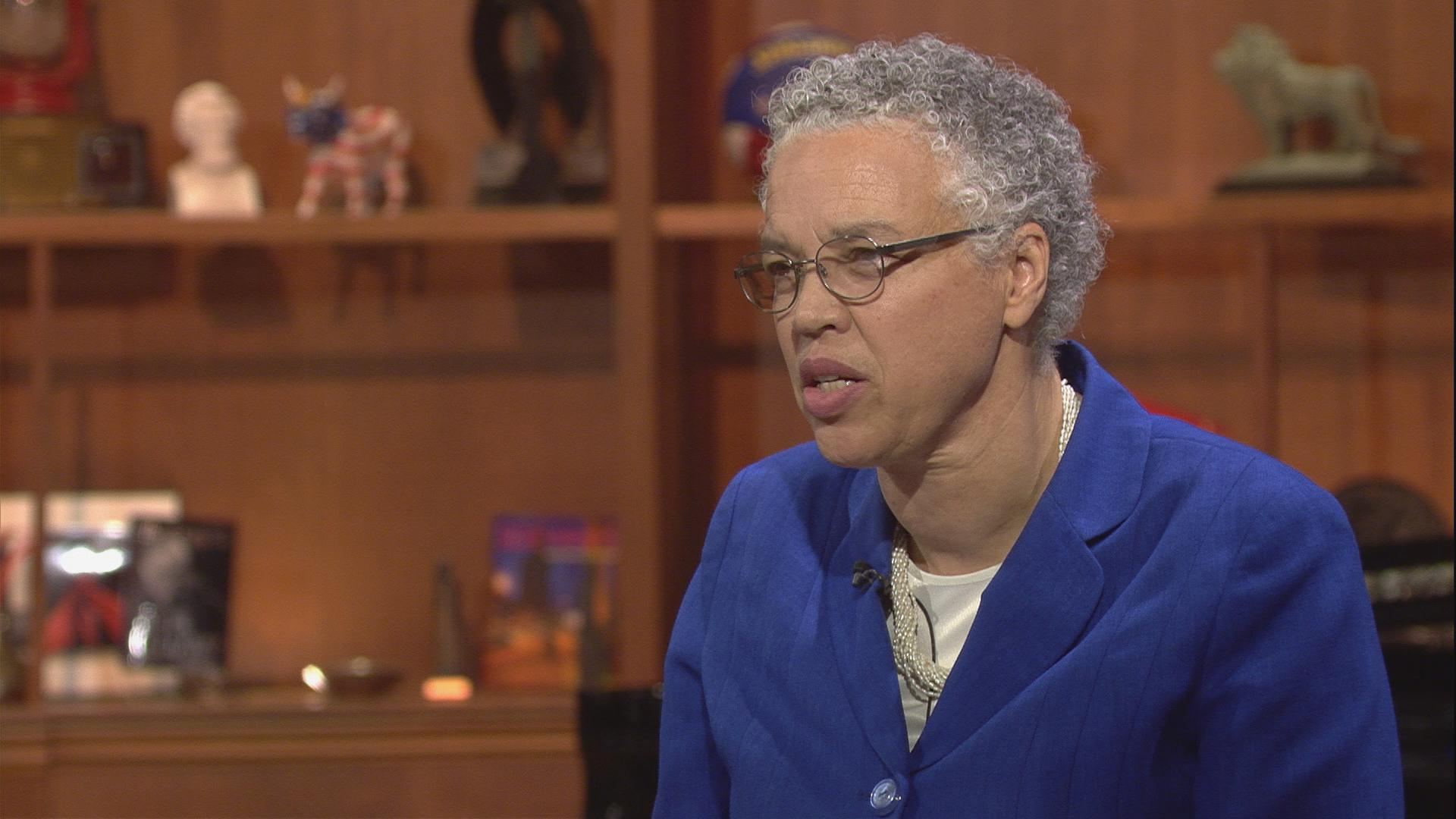 "Cook County Board President Toni Preckwinkle appears on ""Chicago Tonight"" on Oct. 16."