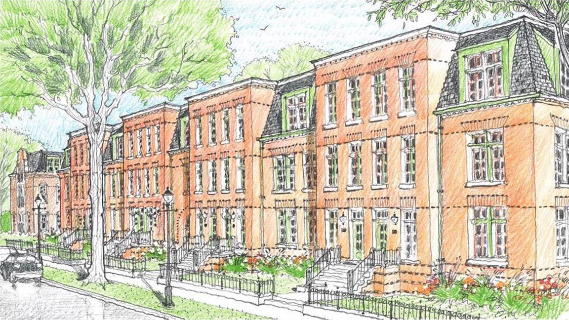 An artist's rendering of Pullman Artspace Lofts, a mixed-use housing development slated for construction in historic Pullman. (PullmanArts)