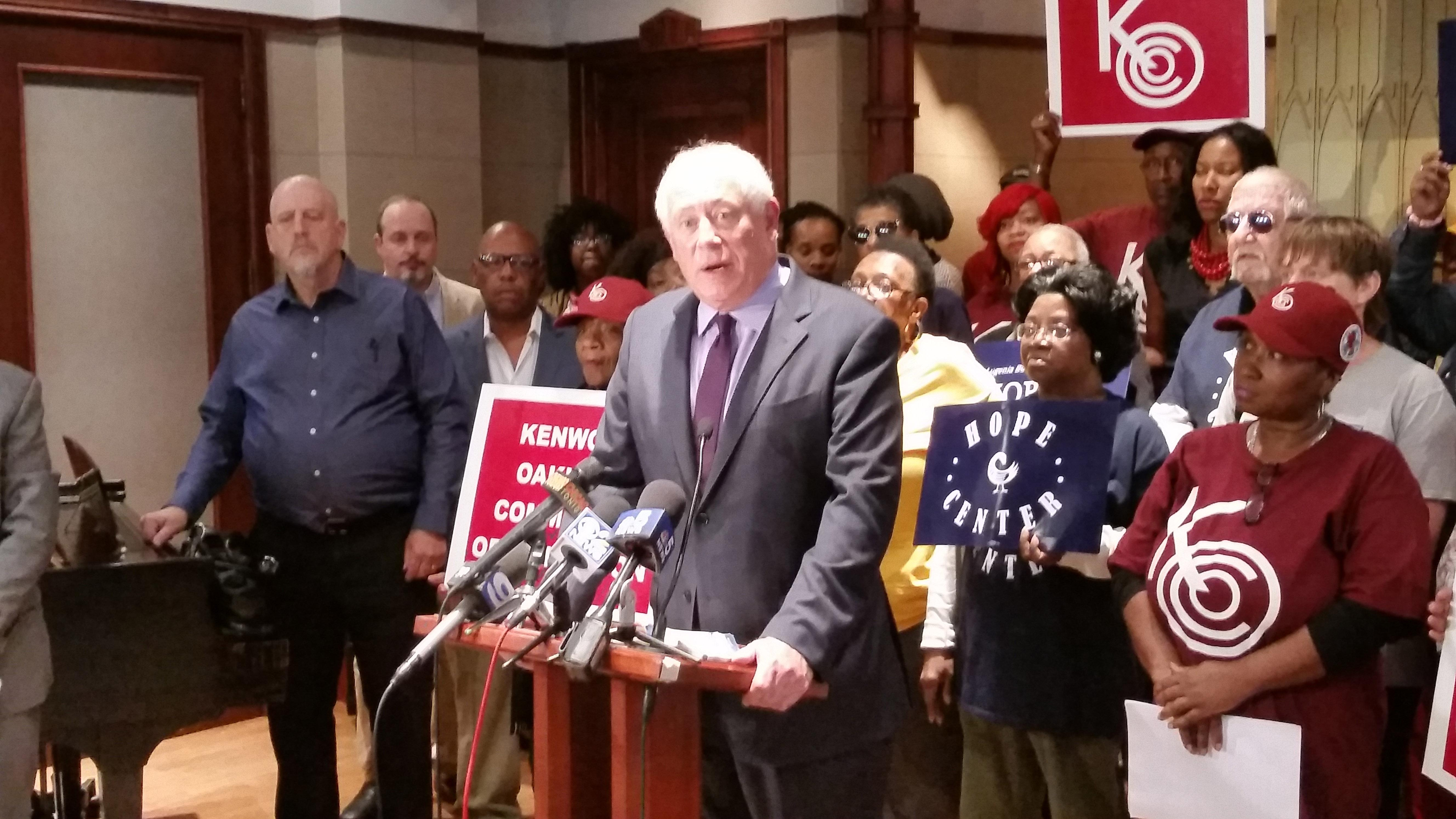 Former Gov. Pat Quinn is one of seven plaintiffs in a pair of civil suits filed this week calling for an end to mayoral control of the Chicago Board of Education. (Matt Masterson / Chicago Tonight)